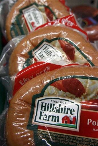 Hillshire Farm is a division of Sara Lee which announced its fiscal fourth-quarter profit fell 41 percent even as revenue rose. Its adjusted results met analysts' expectations.