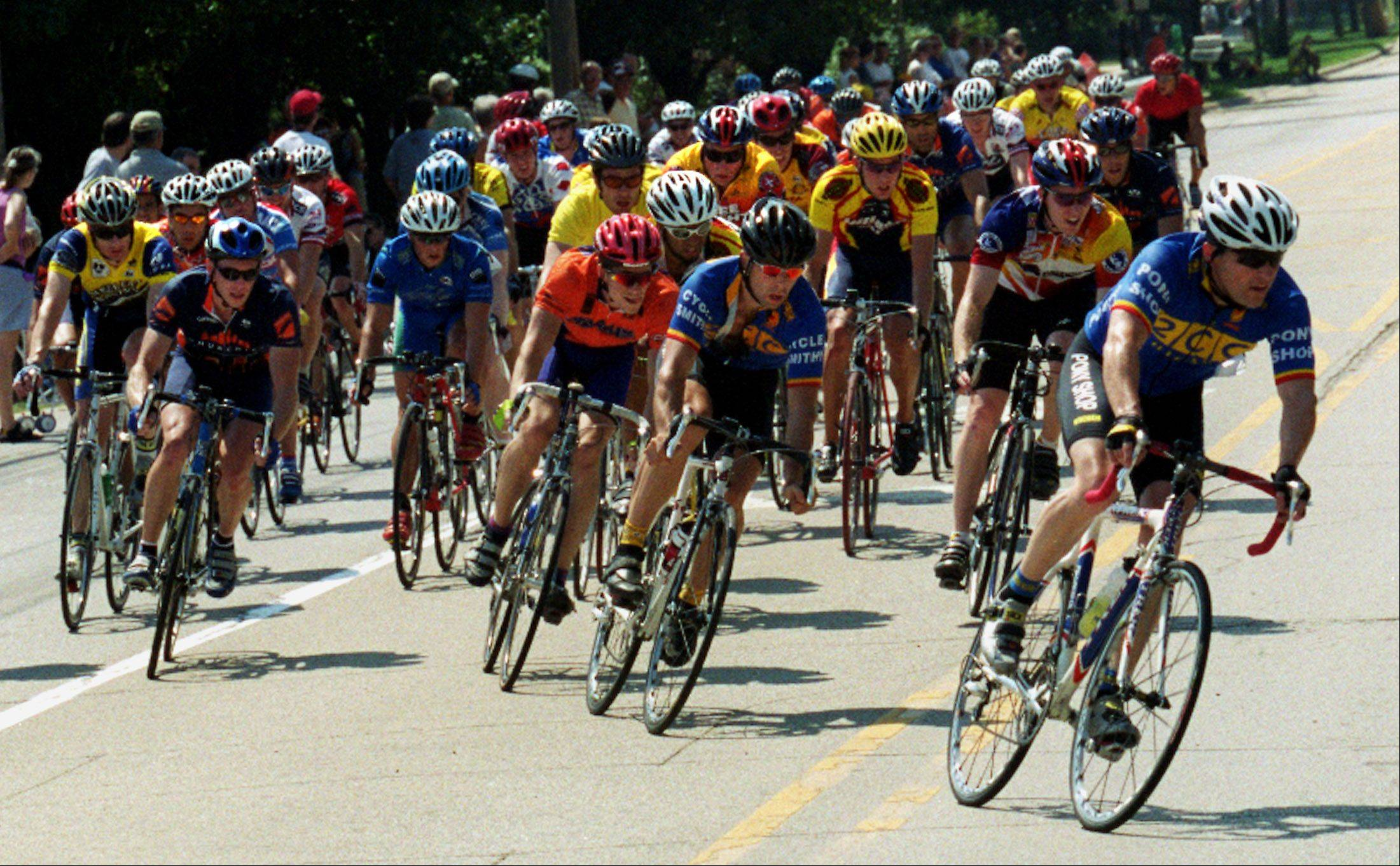 The 2011 Winfield Criterium races through downtown Winfield on Saturday and Sunday, Aug. 13 and 14. This is the 12th year the two-day racing event has been organized by the Athletes by Design Cycle Club.
