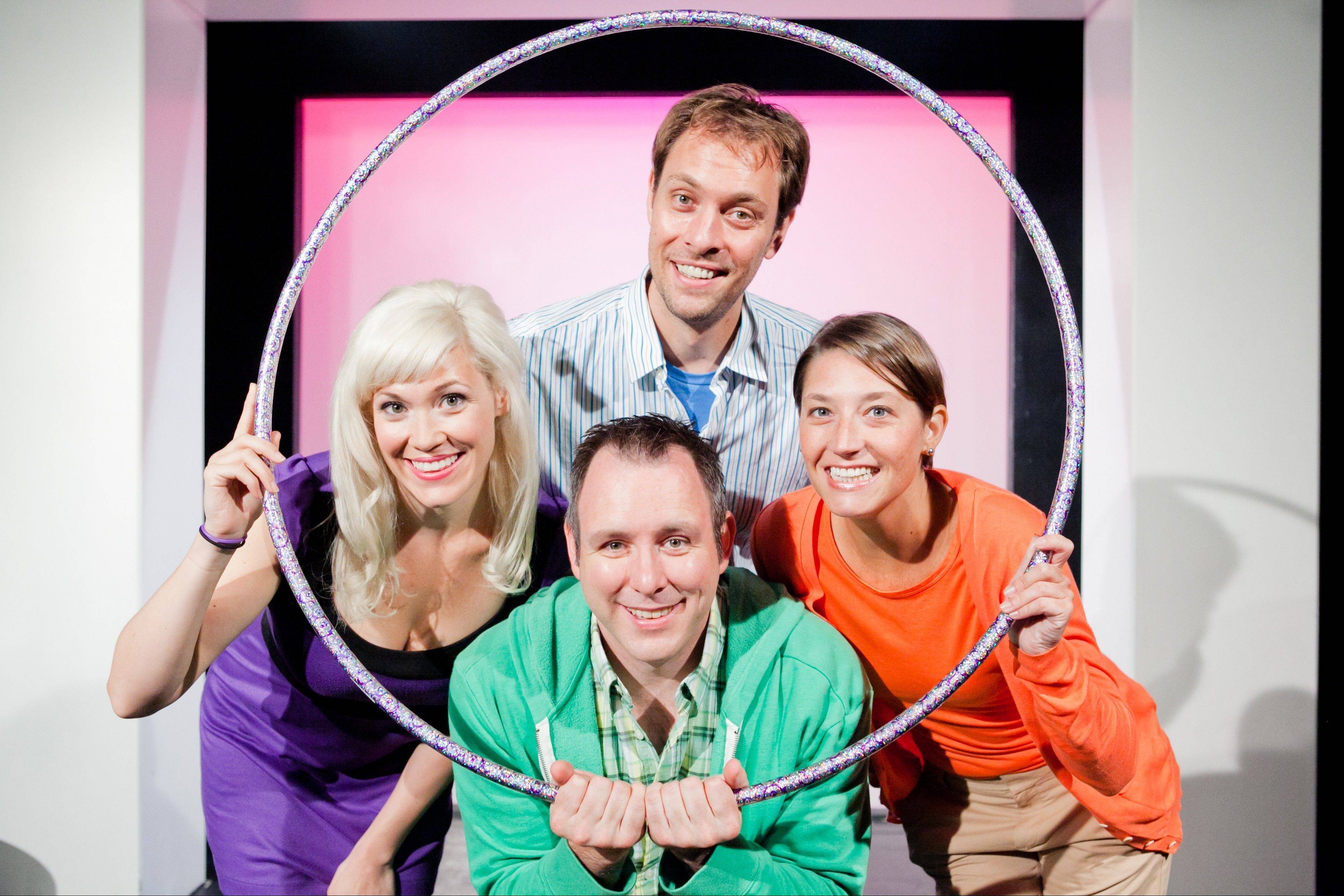 "Clockwise from left, Carisa Barreca, Jimmy Carlson, Amanda Blake Davis and Shad Kunkle star in ""Sex & The Second City: A Romantic Dot Comedy,"" in a pre-Chicago run at Arlington Heights' Metropolis Performing Arts Centre."
