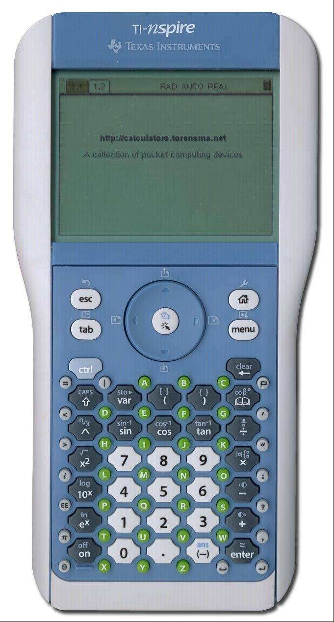 The TI-Nspire allows students to save their work for use later.