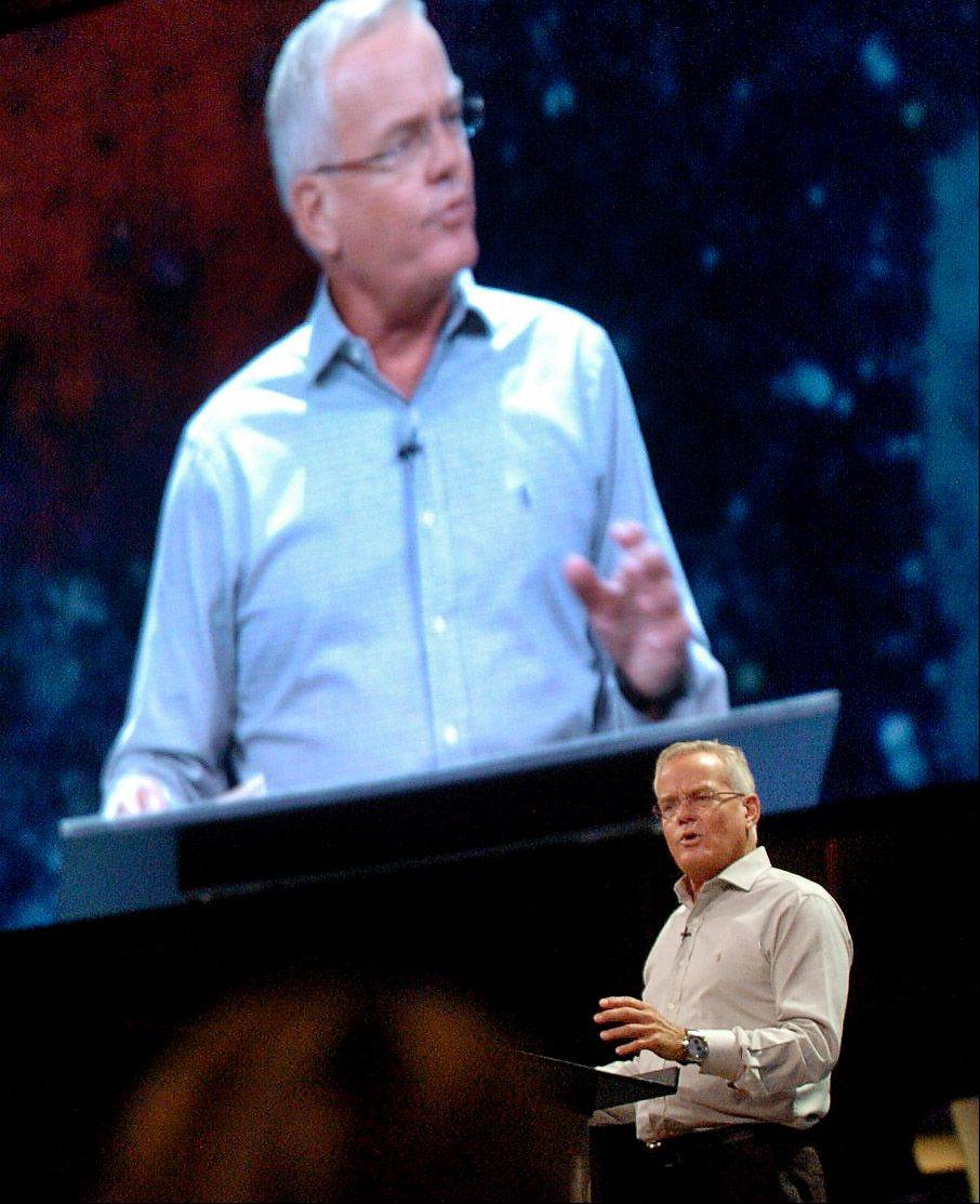 Bill Hybels, founder and senior pastor of Willow Creek Community Church, speaks on the church's position on gays following Starbucks CEO Howard Schultz's withdrawal after pressure from a gay group.
