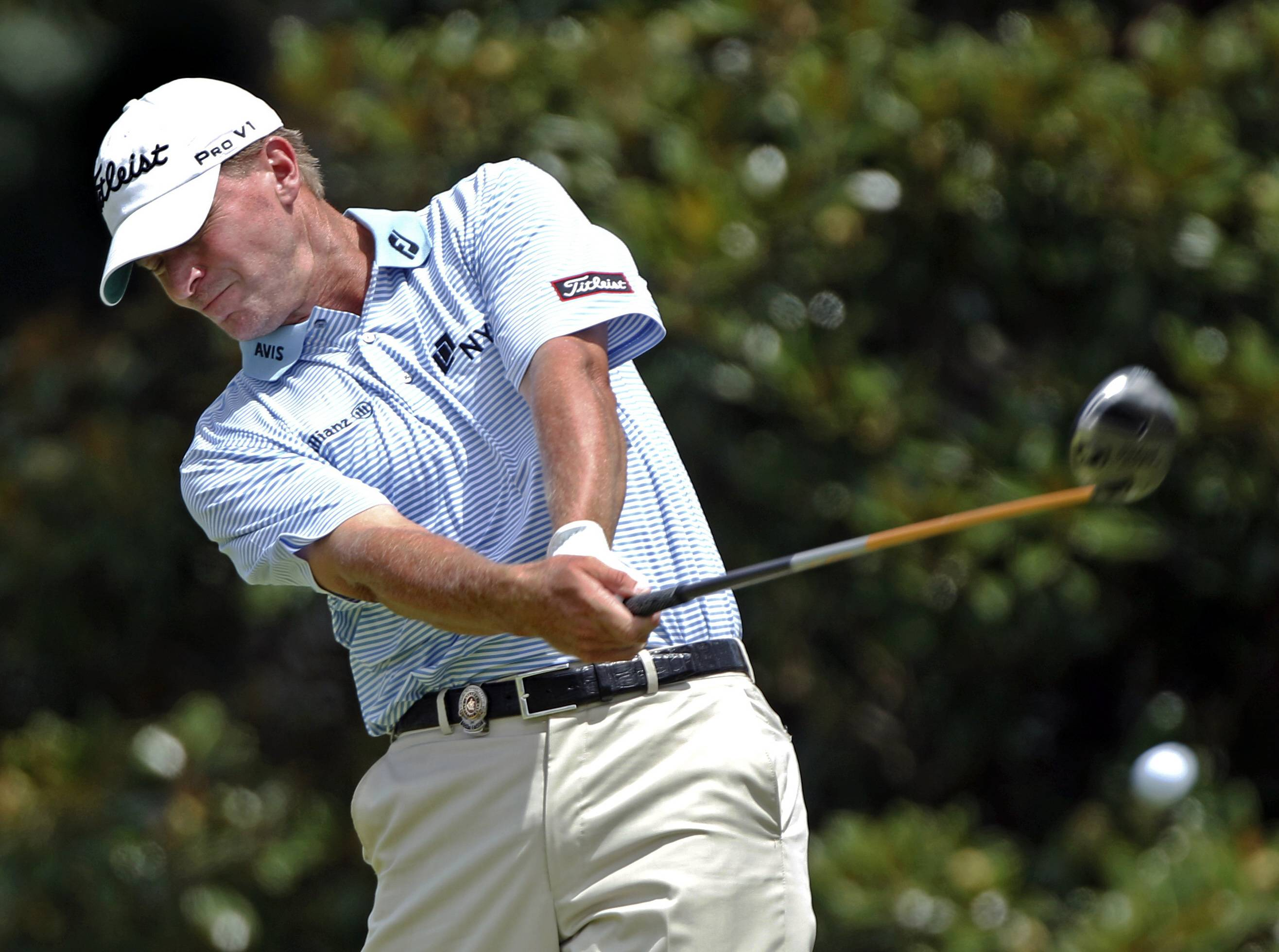 Steve Stricker shot a 63 Thursday during the first round of the PGA Championship at Atlanta Athletic Club.