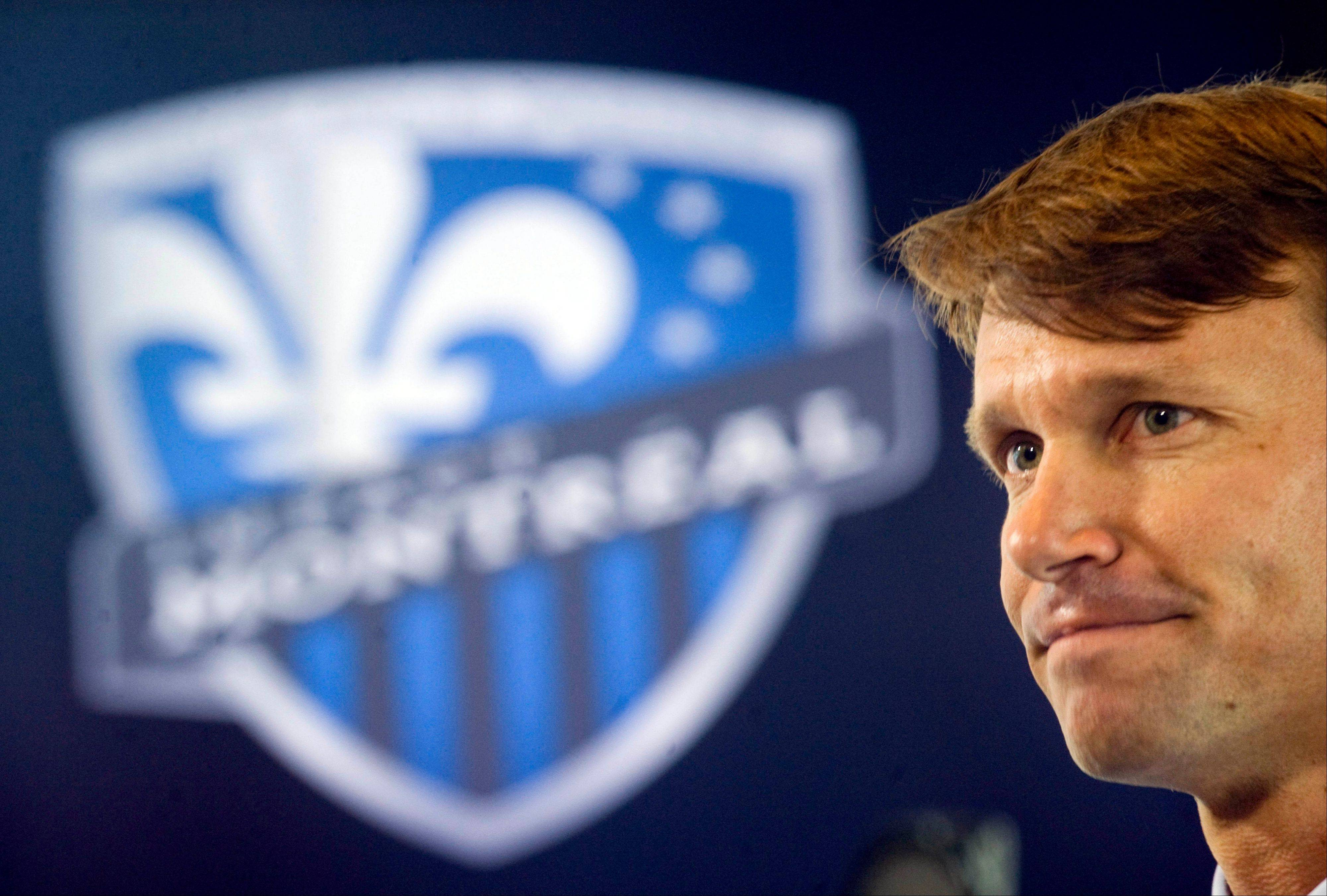 For Chicago Fire player Jesse Marsch was introduced Wednesday as the new head coach of the Montreal Impact soccer team, which will join Major League Soccer in 2012.