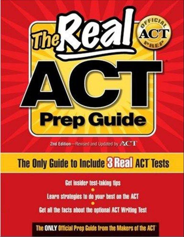The official study guide for the ACT test, published by the creators of the ACT test.