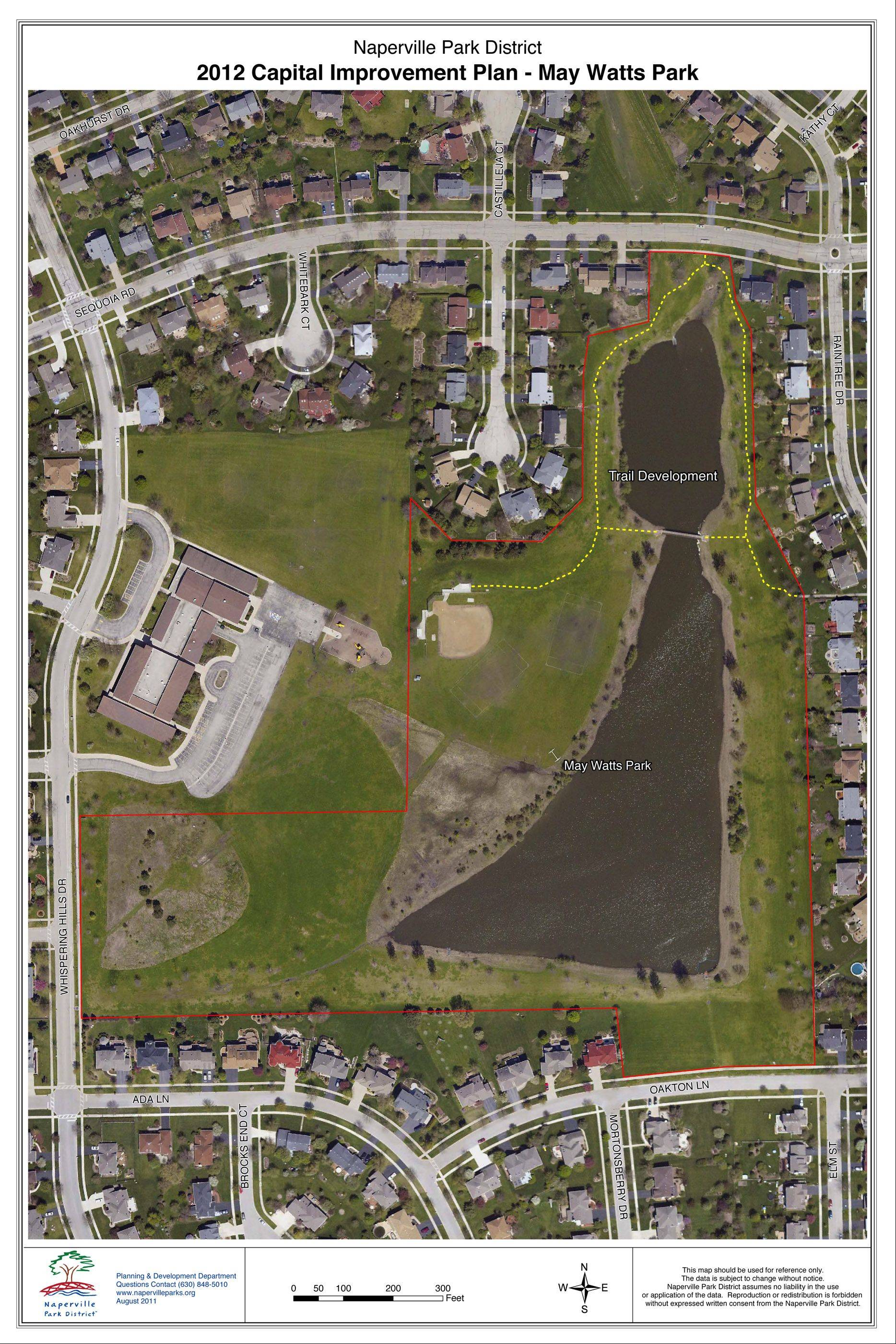 Several residents who live near the retention pond at May Watts Park oppose plans for a proposed walking trail.
