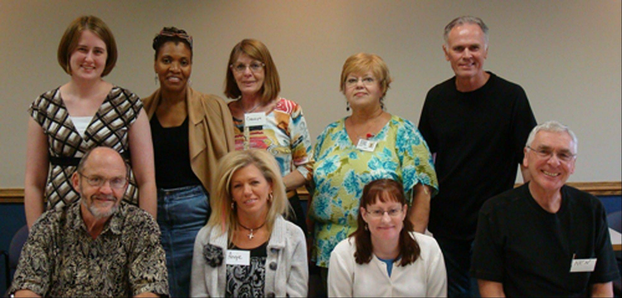 These community members recently completed Fox Valley Volunteer Hospice's Bereavement Training Program. From left, front row, are John Uhrich, Angie McKinney, Donna Newbold and Ken Karczewski; back row, Marrisa Rakes, Carla Grossett, Carolyn Pugh, Connie Jeske and Rob Anderson. These volunteers represent Algonquin, Elgin, St. Charles, Geneva, Warrenville, North Aurora, Naperville and Sugar Grove.