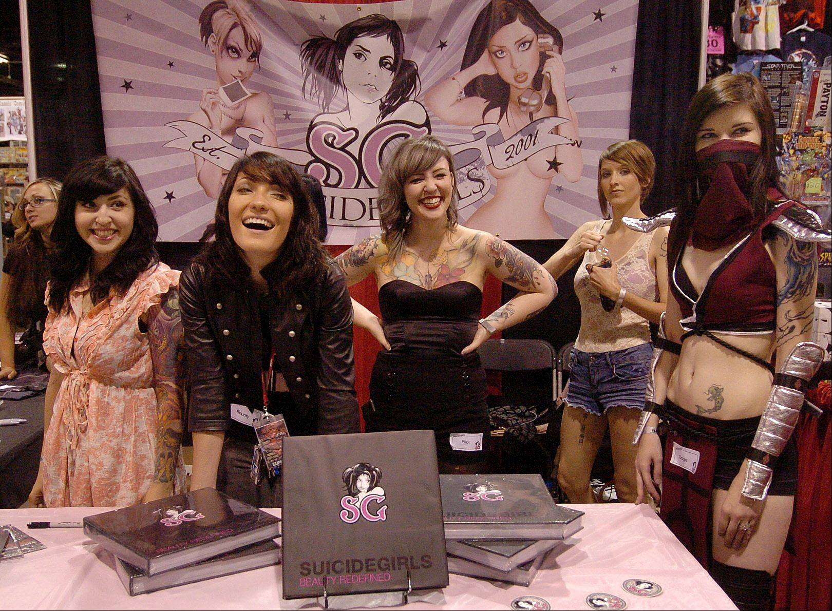 The Suicide Girls at the Wizard World Chicago Comic Con.