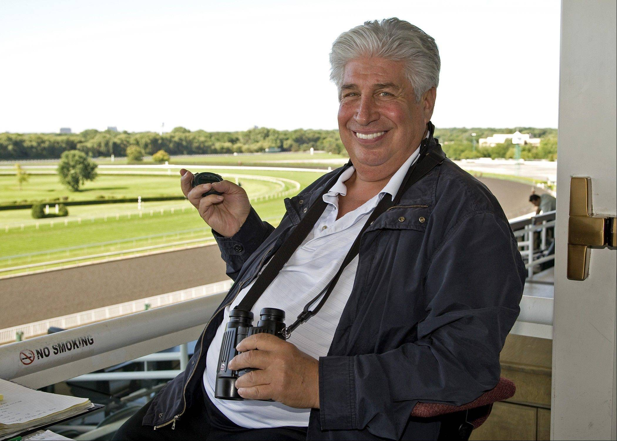 Bobby Belpedio, the head clocker at Arlington Park, has witnessed every Arlington Million race.