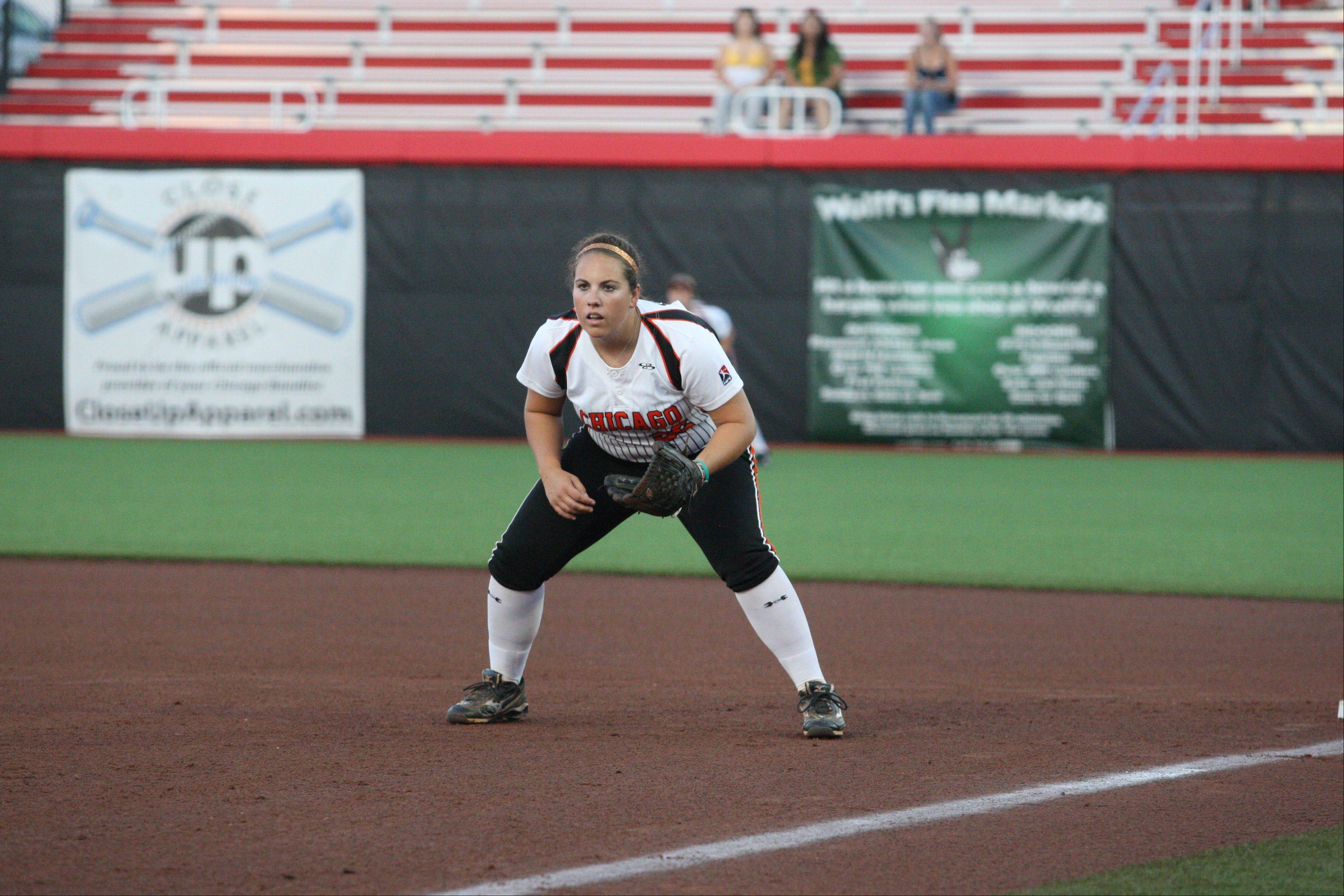 Bandits infielder Alisa Goler has made only 2 errors in her rookie season with the NPF club, and she leads the league in home runs and is fourth in hitting.