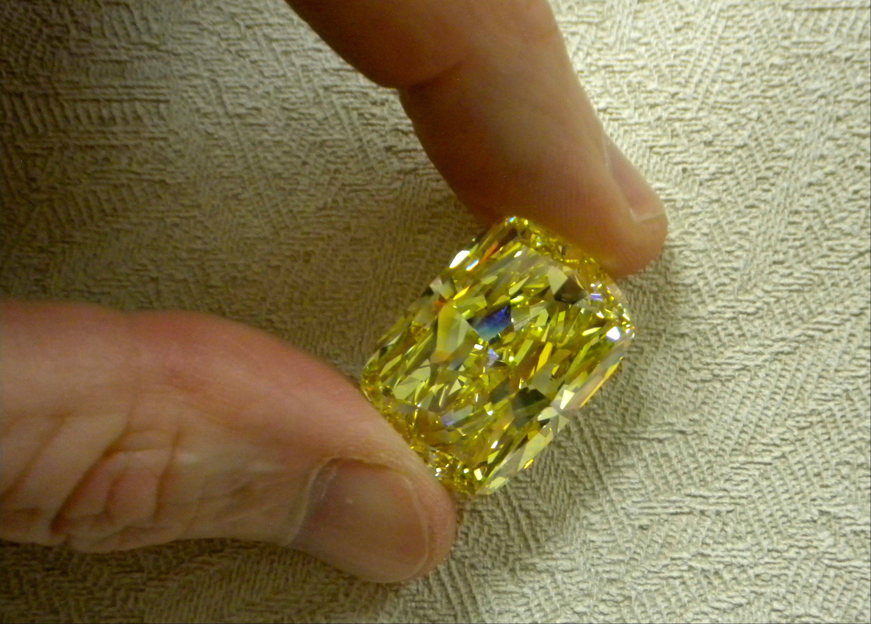 This large yellow diamond, known as the �Golden Eye,� was seized in a federal drug and money laundering investigation in northeast Ohio and is going on the auction block.