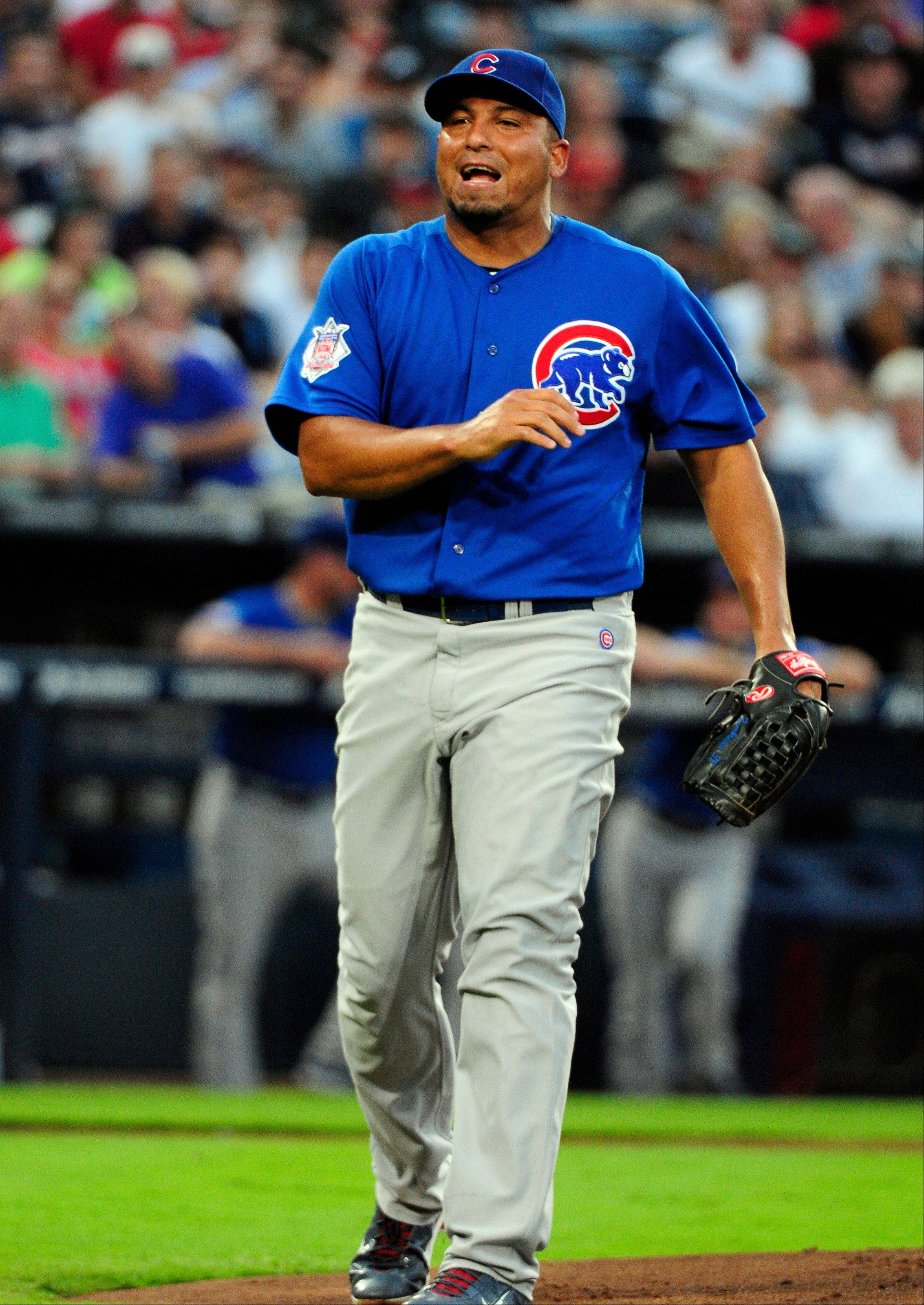 Carlos Zambrano gave up 5 home runs on Friday, then nearly hit Chipper Jones twice. He was then kicked out of the game and threatened to retire.