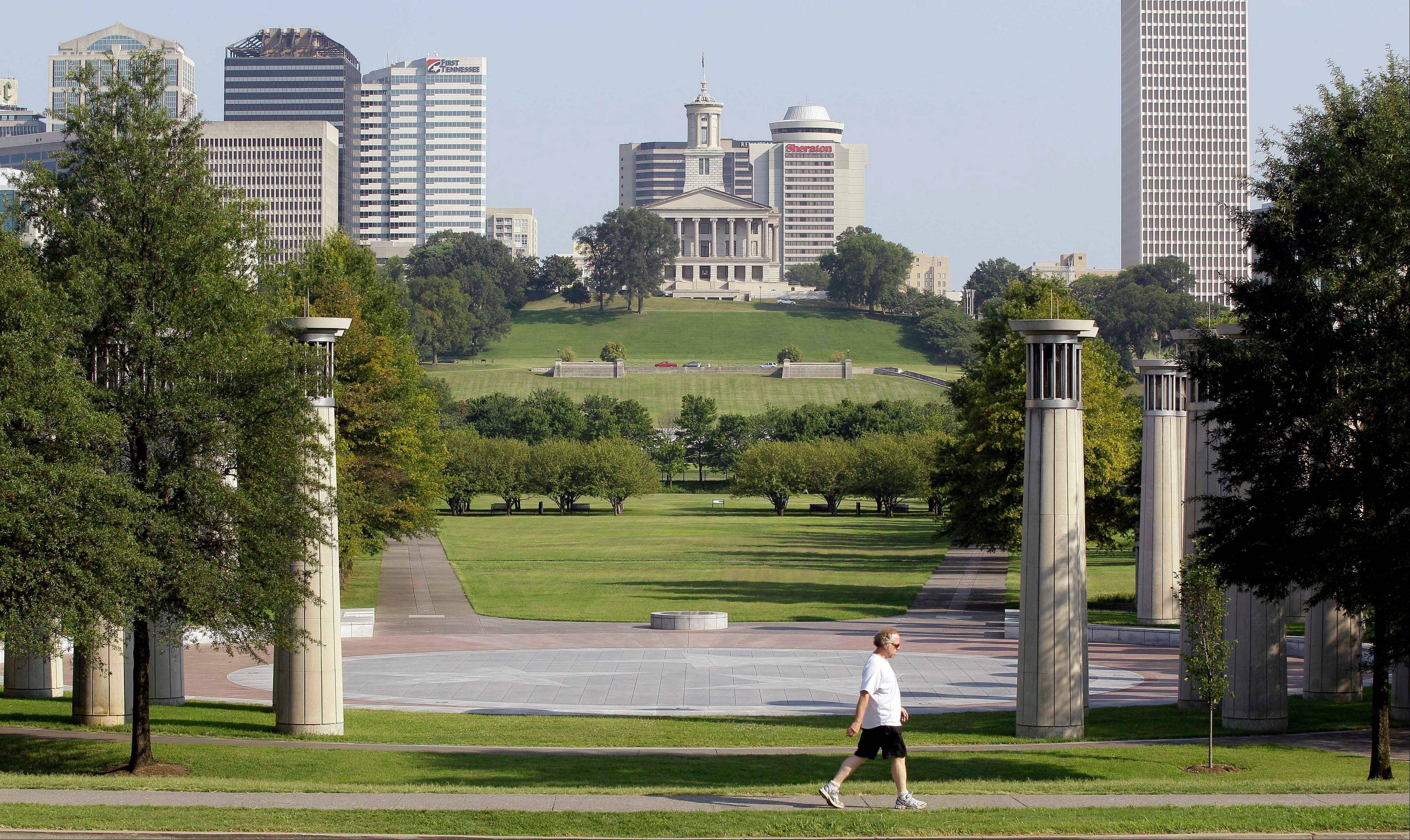 The Bicentennial Capitol Mall State Park at the foot of the state Capitol building in Nashville, Tenn., will be the site for the National Folk Festival held Labor Day weekend.