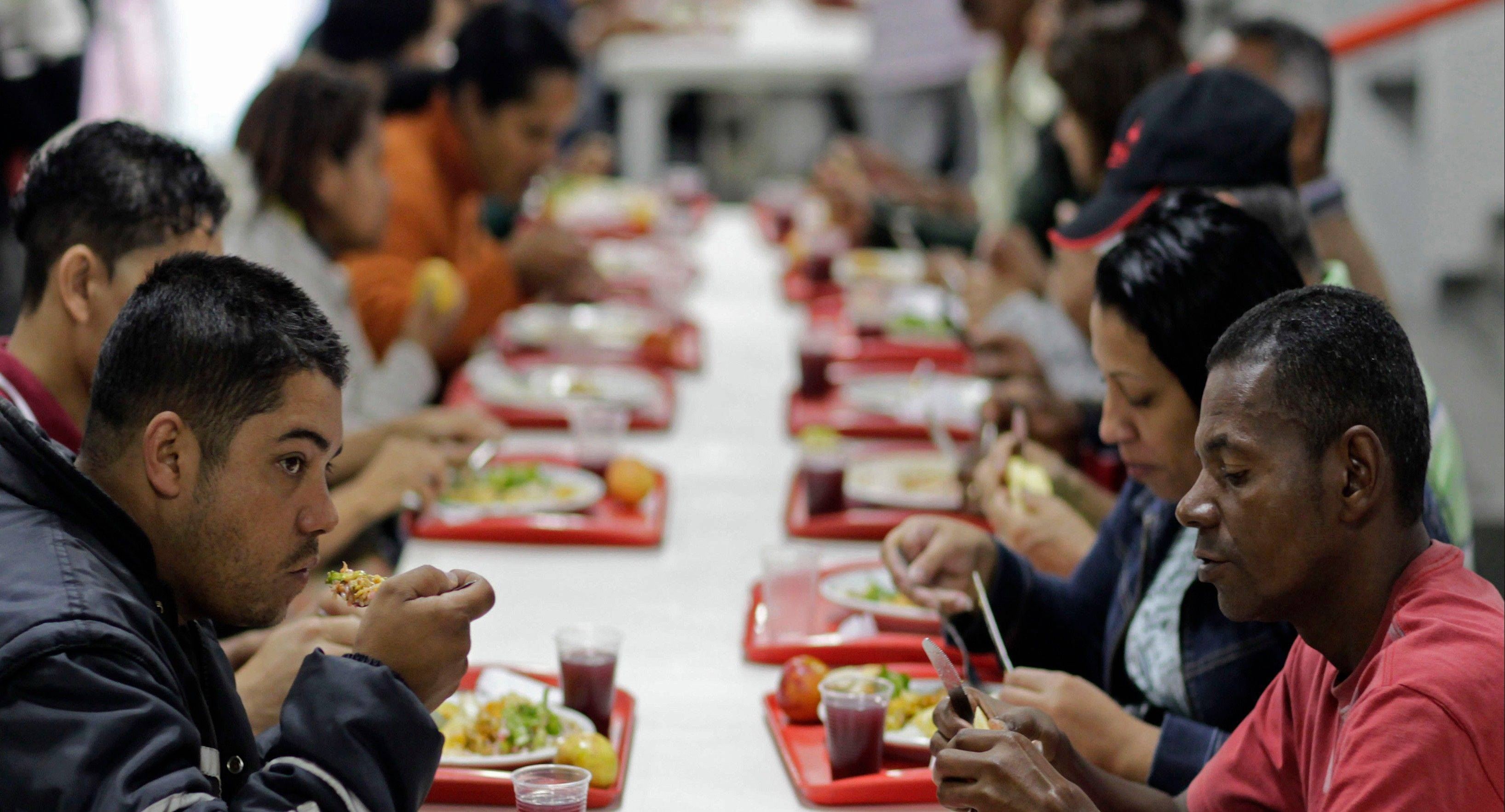 People eat at a popular restaurant sponsored by the Brazilian government in Sao Paulo, Brazil.