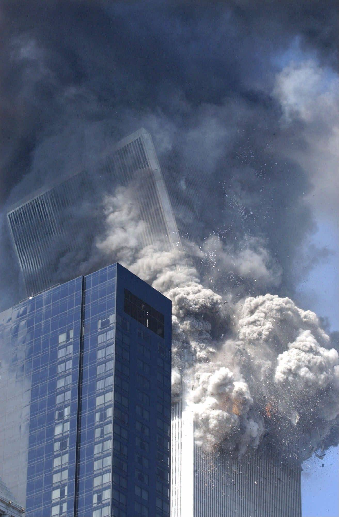 Amy Sancetta took this picture as the south tower of the World Trade Center began to collapse on Sept. 11, 2001.