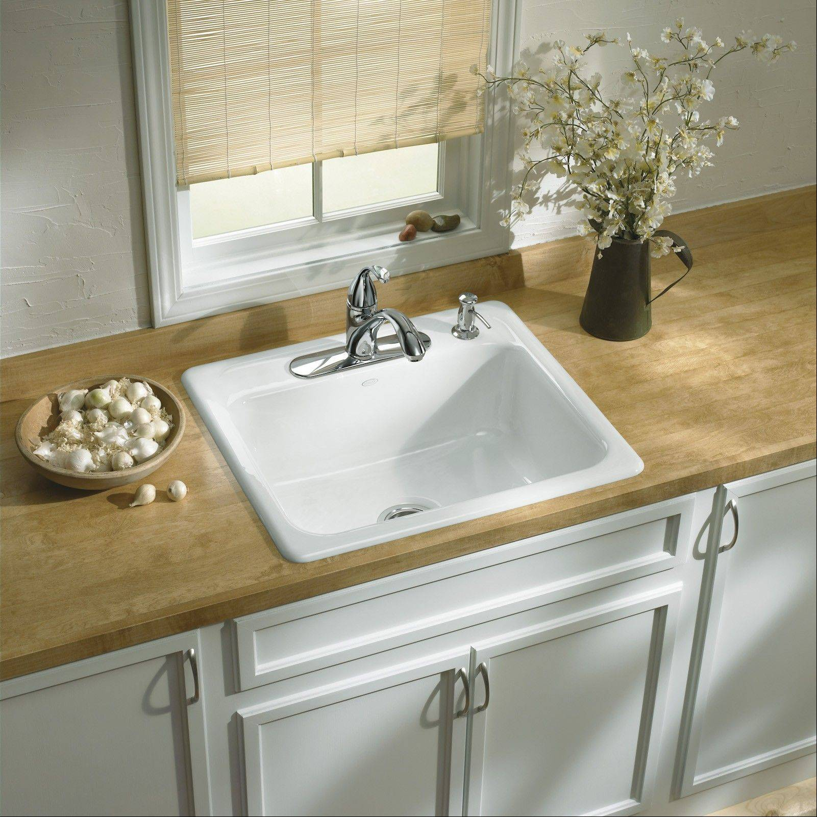 Before replacing your sink, consult with a licensed contractor certified to work with solid-surface countertops.
