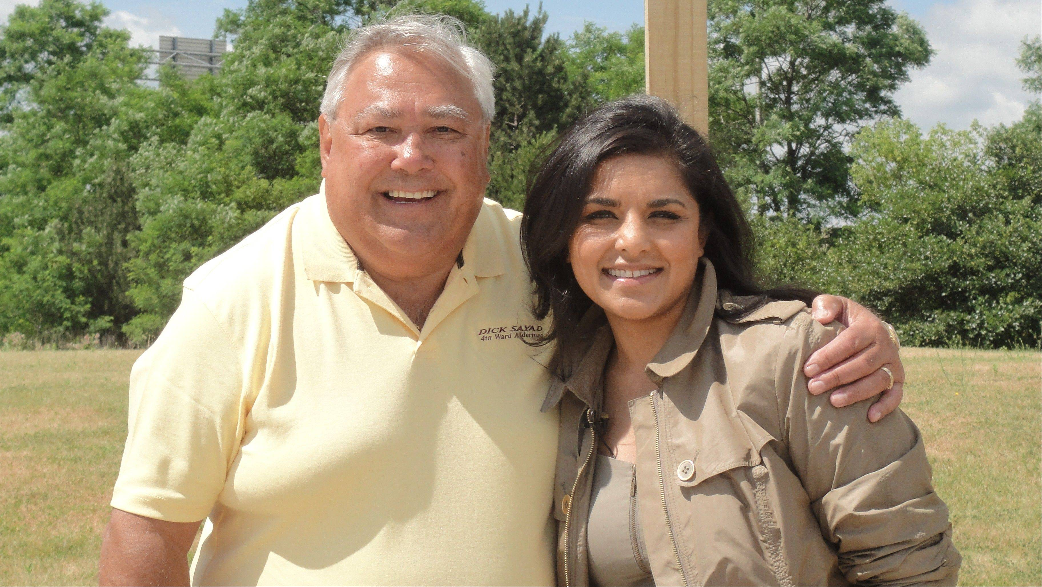 Des Plaines 4th Ward Alderman Dick Sayad poses with Alpana Singh, the host of �Check, Please!�