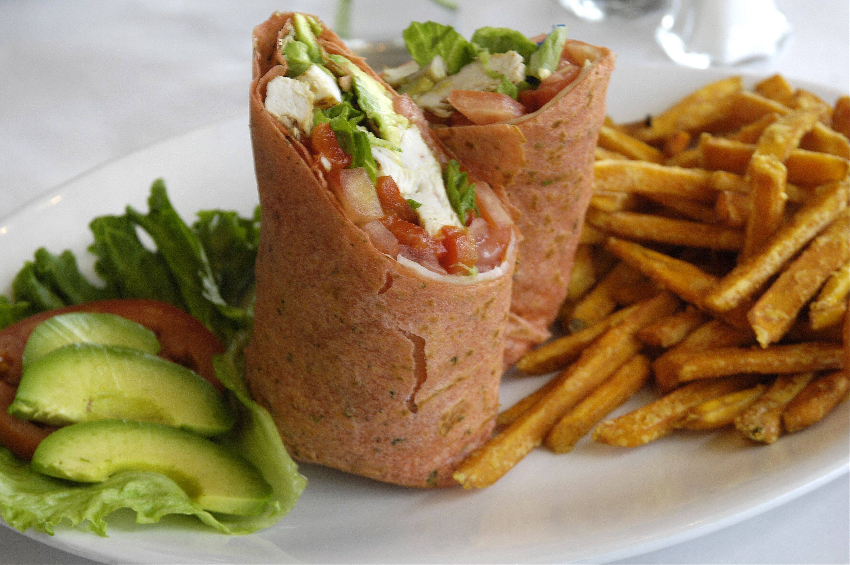 The chicken roll comes with fries at Moonstruck in South Elgin.