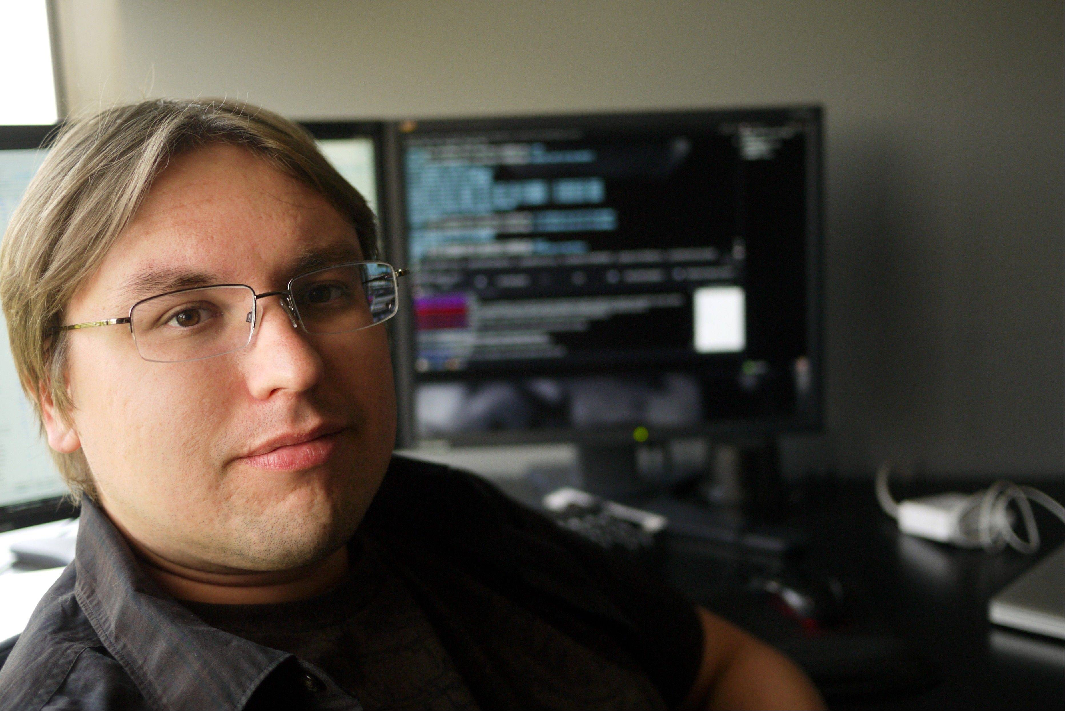 "Downers Grove native Sean Wallitsch, 27, works as a Hollywood computer effects wizard called a ""Flame artist."""
