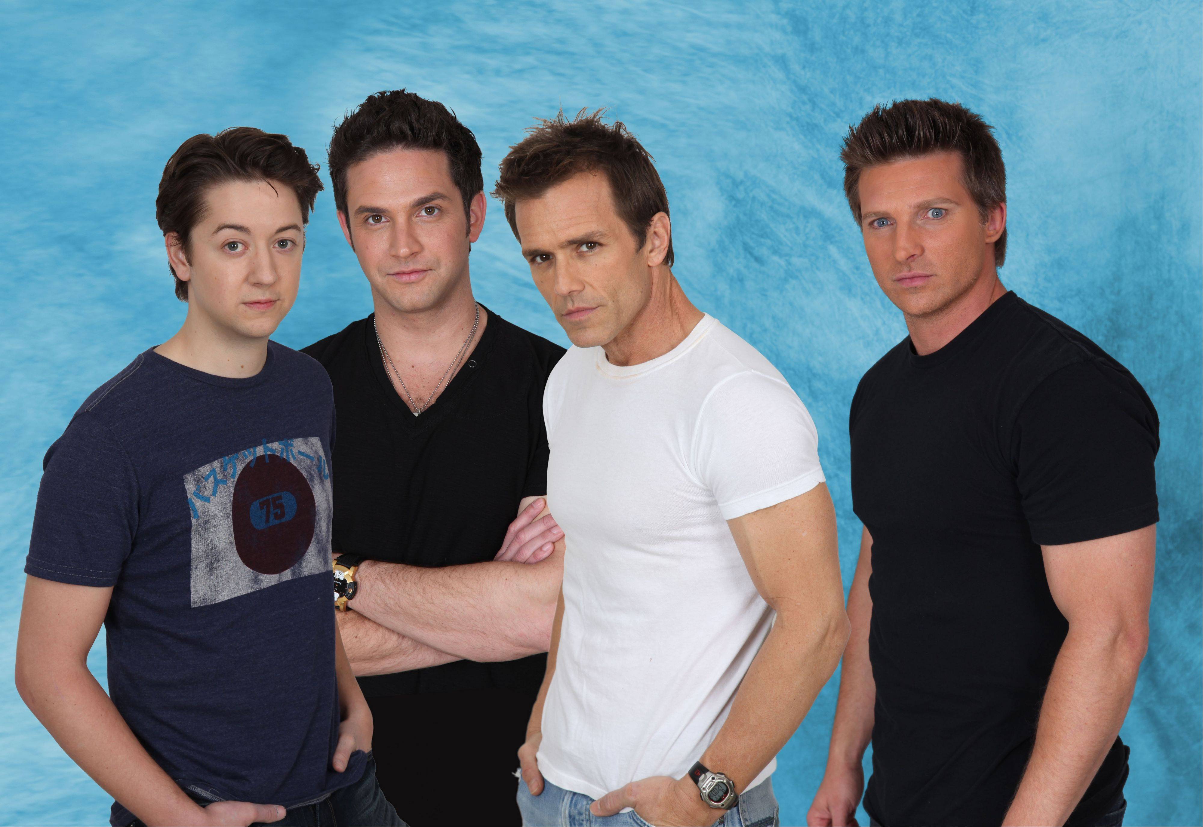 """General Hospital"" stars Bradford Anderson, left, Brandon Barash, Scott Reeves and Steve Burton perform together as Port Chuck at Pheasant Run Resort in St. Charles."