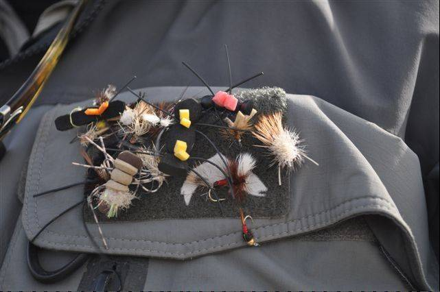 A simple selection of flies aimed at imitating large land-based insects like grasshoppers and crickets can make for fast panfishing at this time of year.