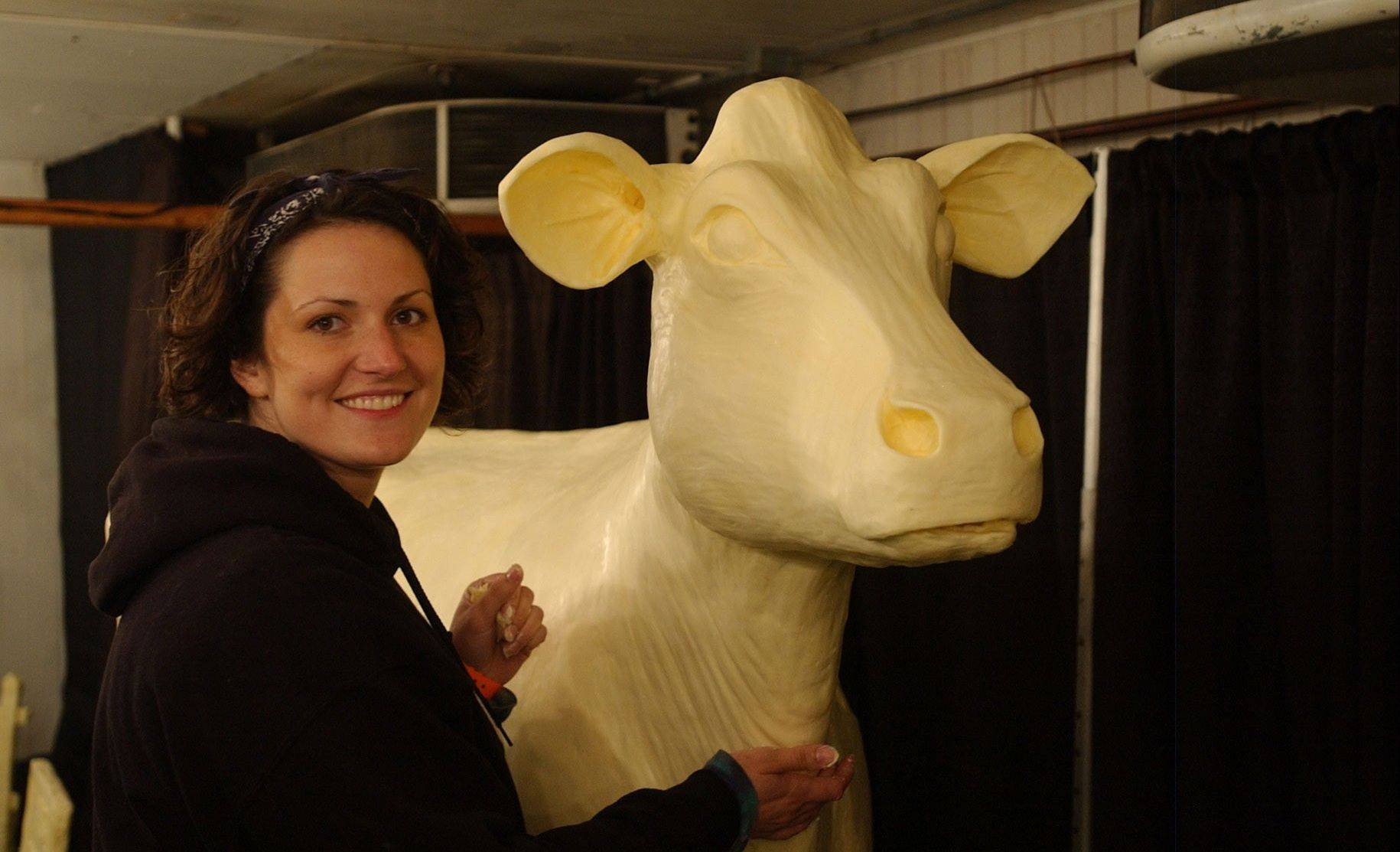 Butter sculptures are just on of the old-fashioned attractions at the Iowa State Fair.