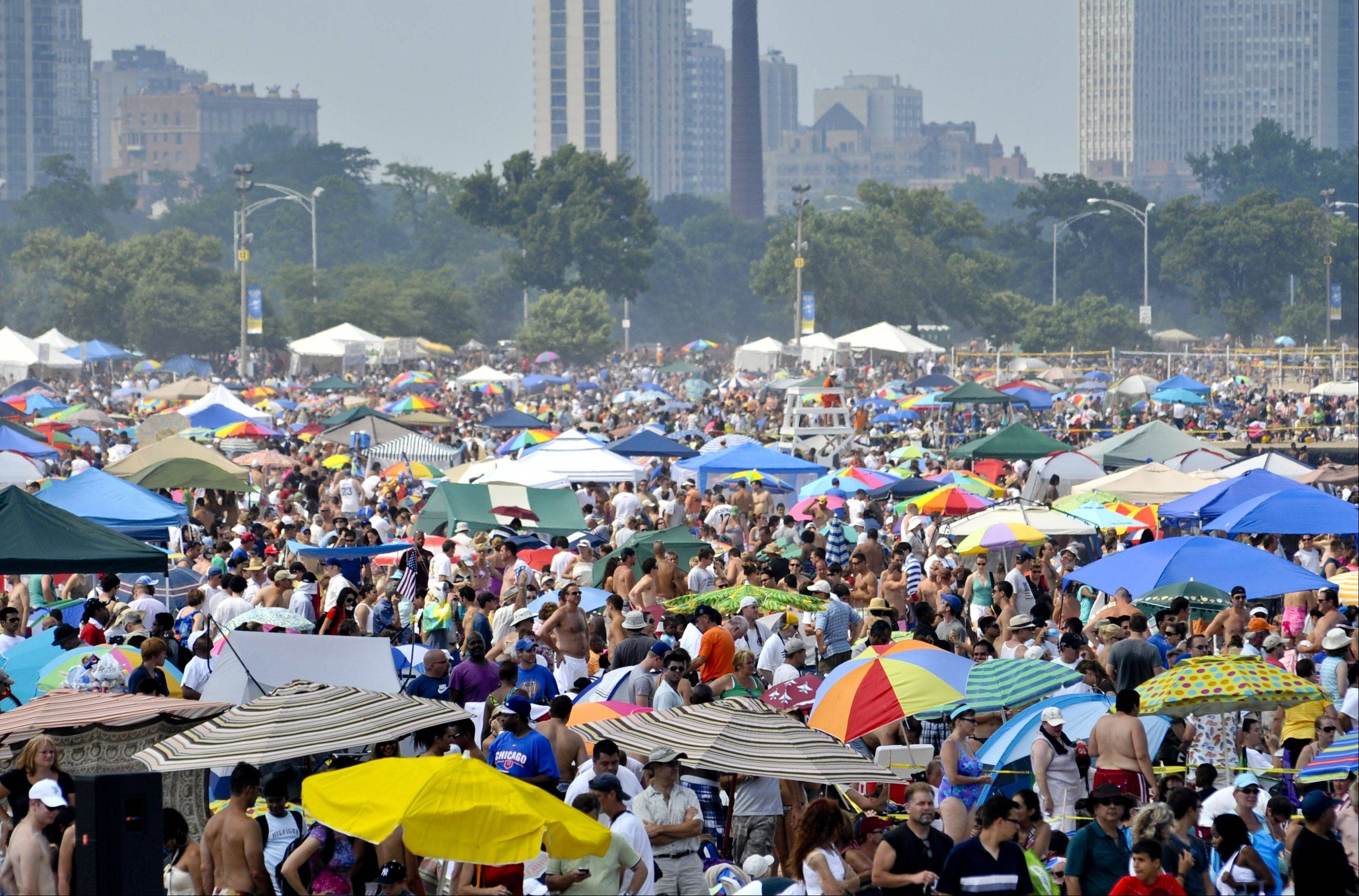 The Chicago Air & Water show draws up to 2 million people to the lake each summer.