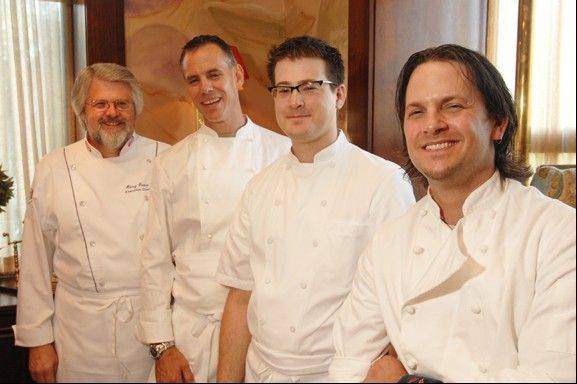 Some of the chefs who have trained and worked at Le Titi de Paris in Arlington will return Sunday for the restaurant's 39th anniversary celebration. This photo shows chefs who participated in the 2010 alumni dinner.