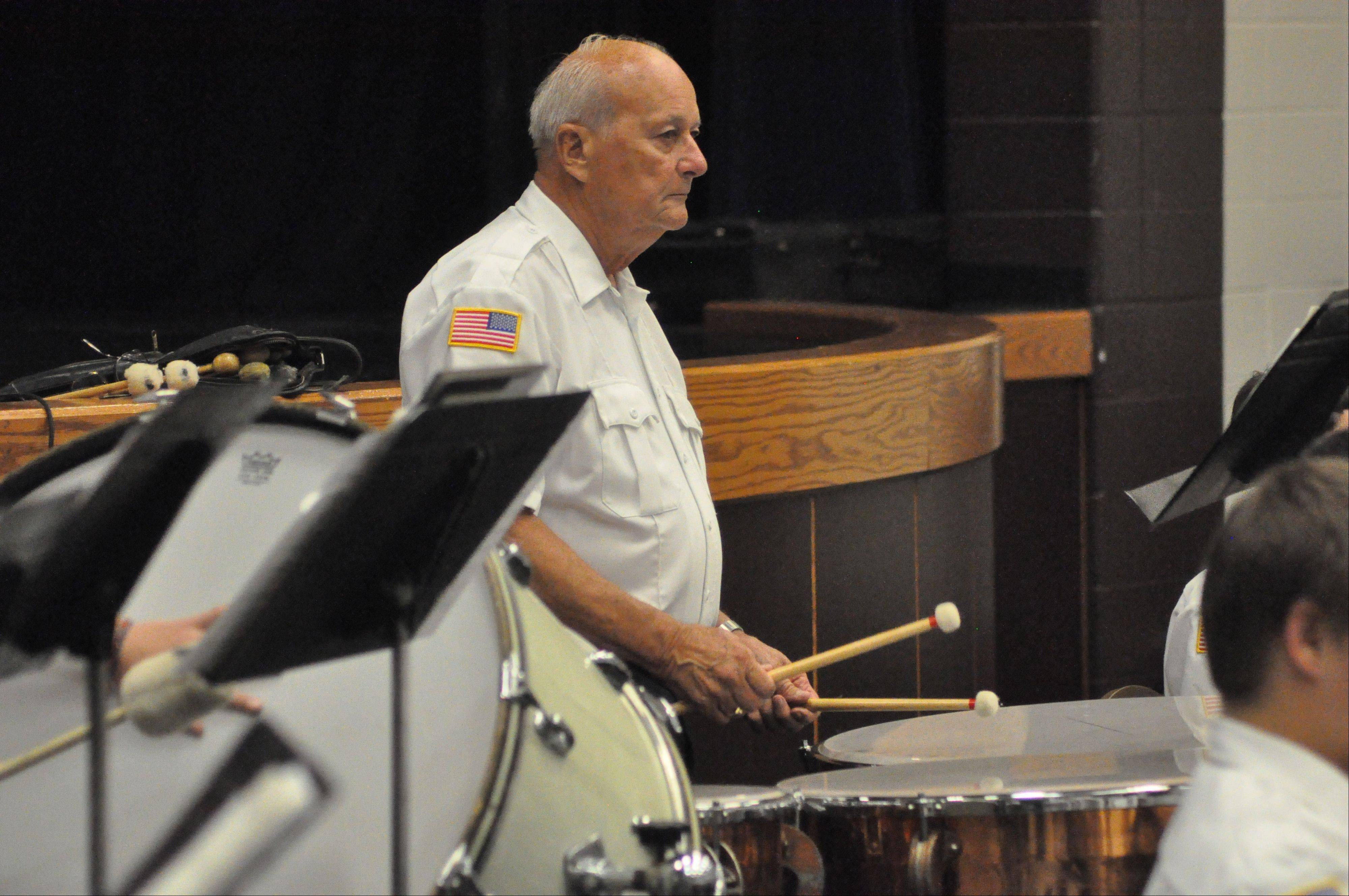 Percussionist extraordinaire Ron Orland of North Aurora ends 50 years with Aurora American Legion Band.