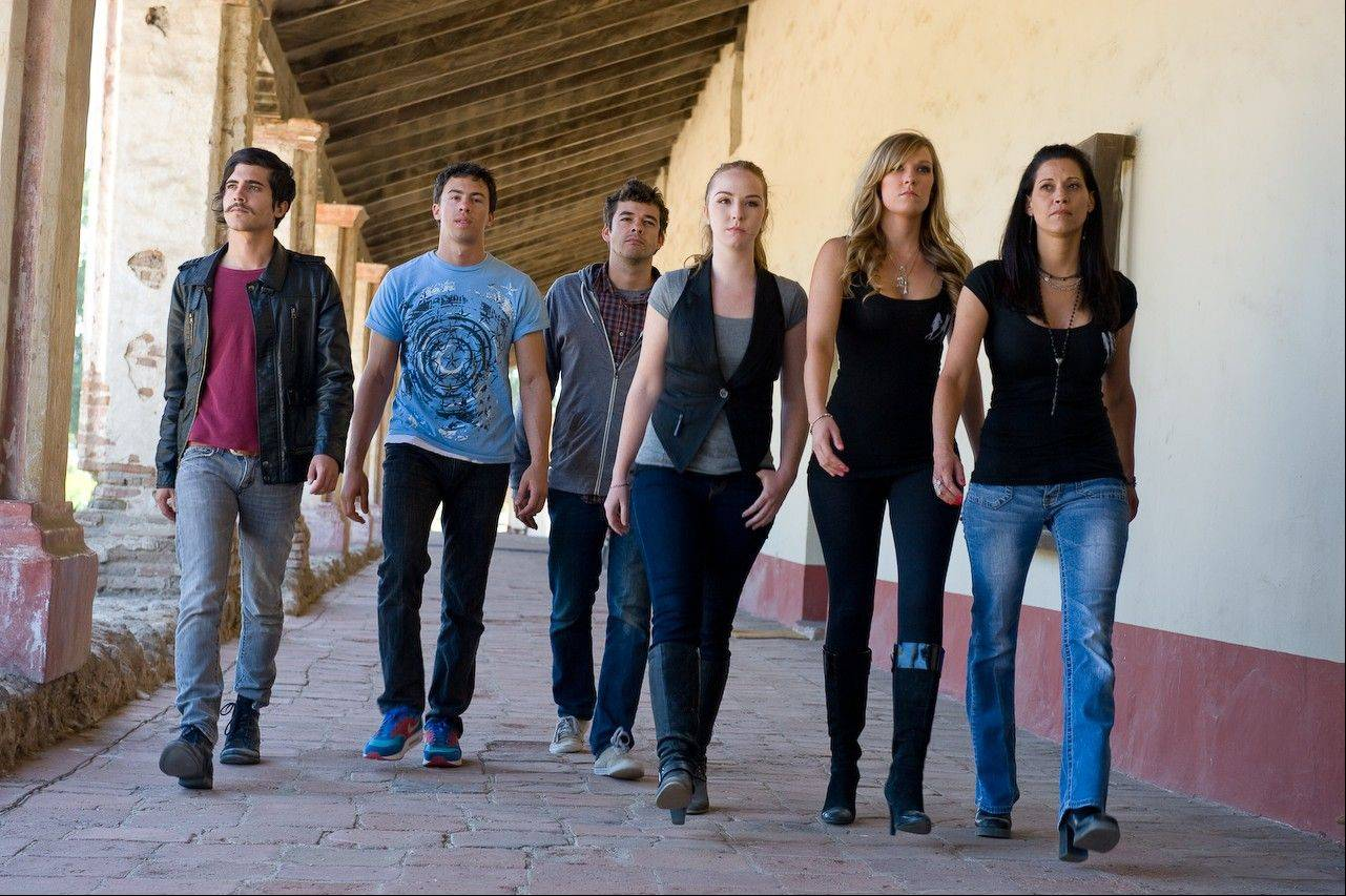 "Ghost Bros Trevor Ames, Greg Niecestro of Addison and Itasca and Joe Blunschi, along with Paranormal Hot Squad members Camryn Grimes, Jesslyn Brown and Jodie Parks, investigate the haunted La Purisima Mission in California in Friday night's episode of ""Paranormal Challenge"" on Travel Channel."