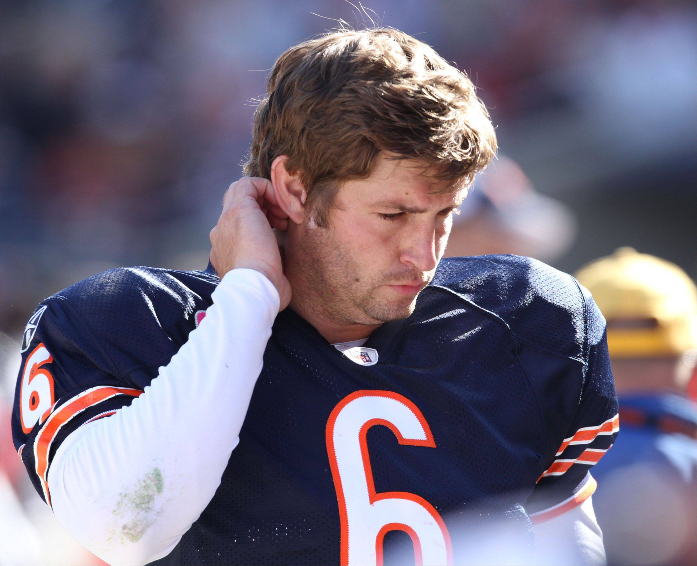 Mike Spellman is freaking out a little about Jay Cutler's health Monday night against the Giants at The Meadowlands. Three words: Run. The. Ball. Six more words: Put. In. The. Backup. Quarterback. Quickly.
