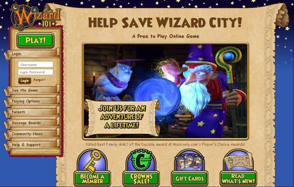 �Wizard 101� is a multiplayer online game that immerses players in a world of magic and student wizards.