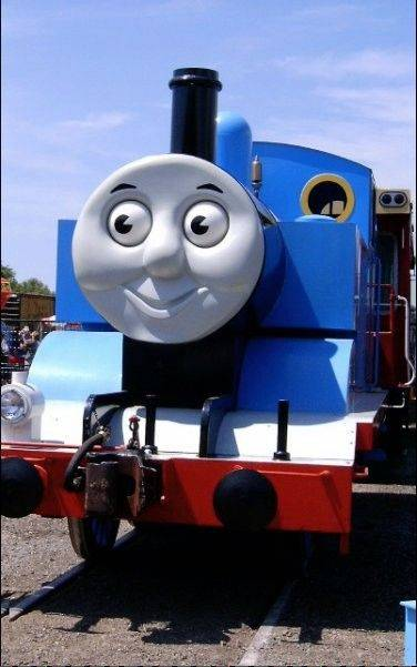 "Climb aboard a 15-ton replica of Thomas the Tank Engine at the ""Day Out With Thomas: Leader of the Track Tour 2011"" at the Illinois Railway Museum in Union."