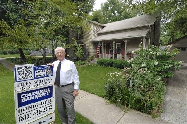 Scott Sanders Ssanders Dailyherald Realtor Ed Prodehl Of Coldwell Banker Is Shown Outside