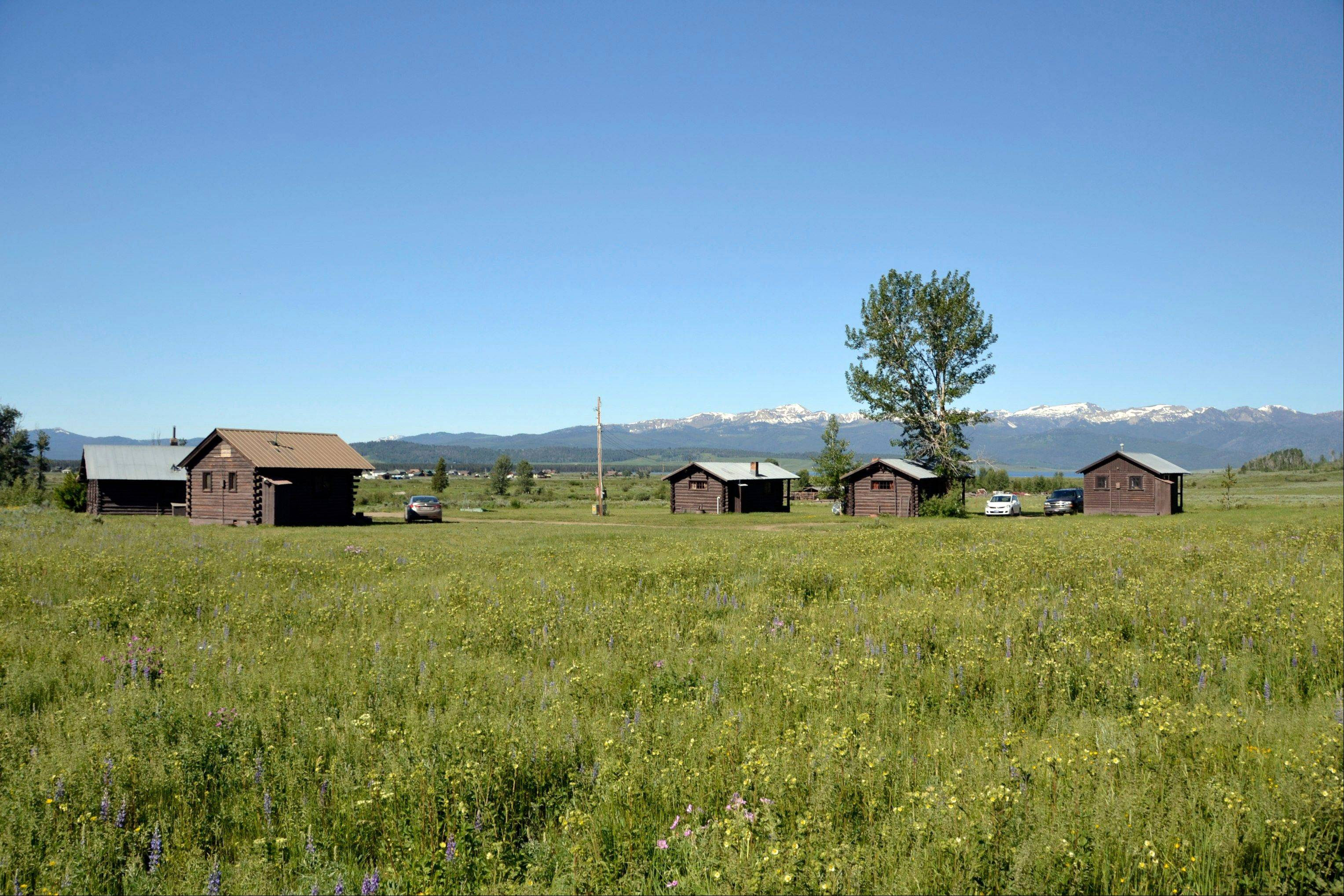 Rental cabins at the Parade Rest Ranch near West Yellowstone, Mont.