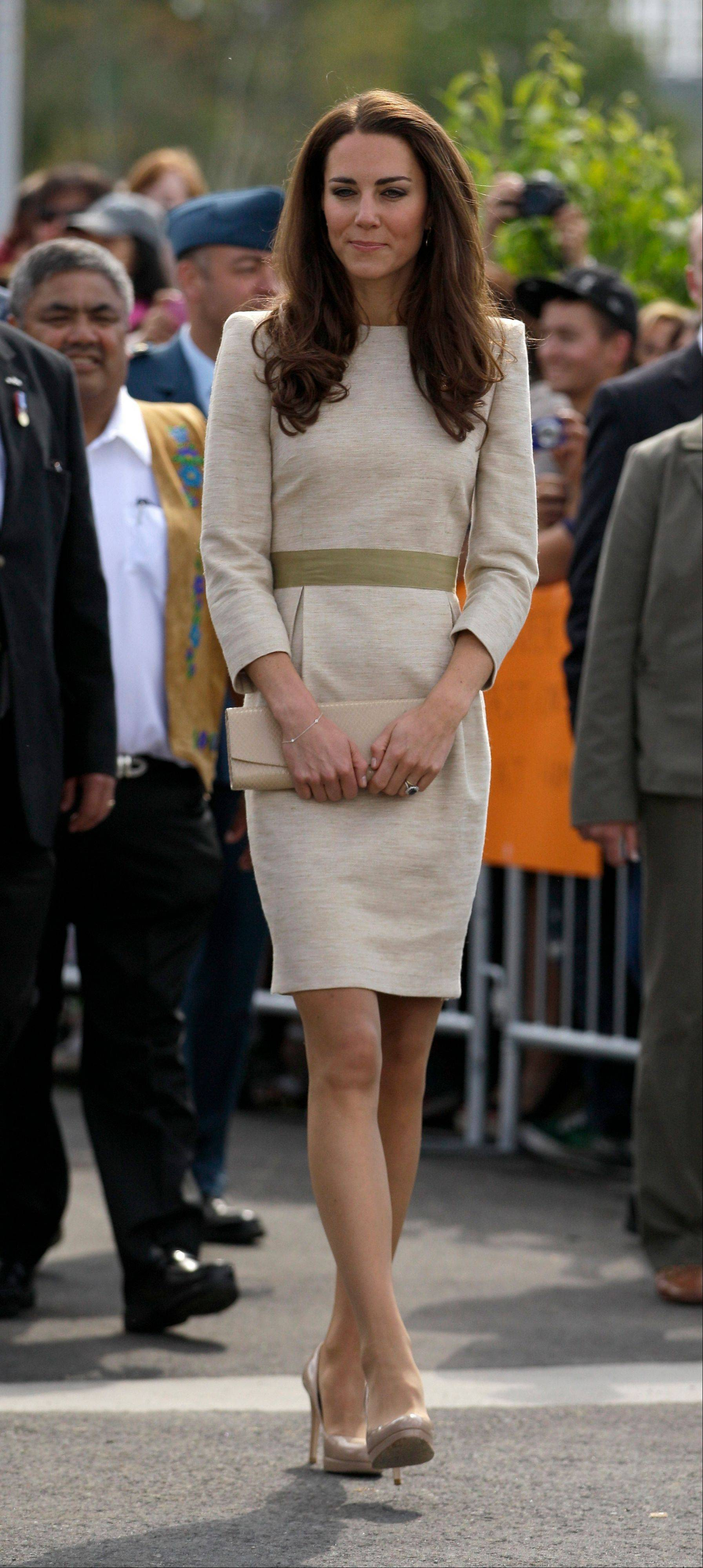 Kate, the Duchess of Cambridge, during a welcome ceremony in Yellowknife, Canada as the Royal couple continue their Royal Tour of Canada. Since the heyday of the 1980s, there's been a casual revolution, a revolt against covered-but-sheer legs. Now hosiery is making its comeback.