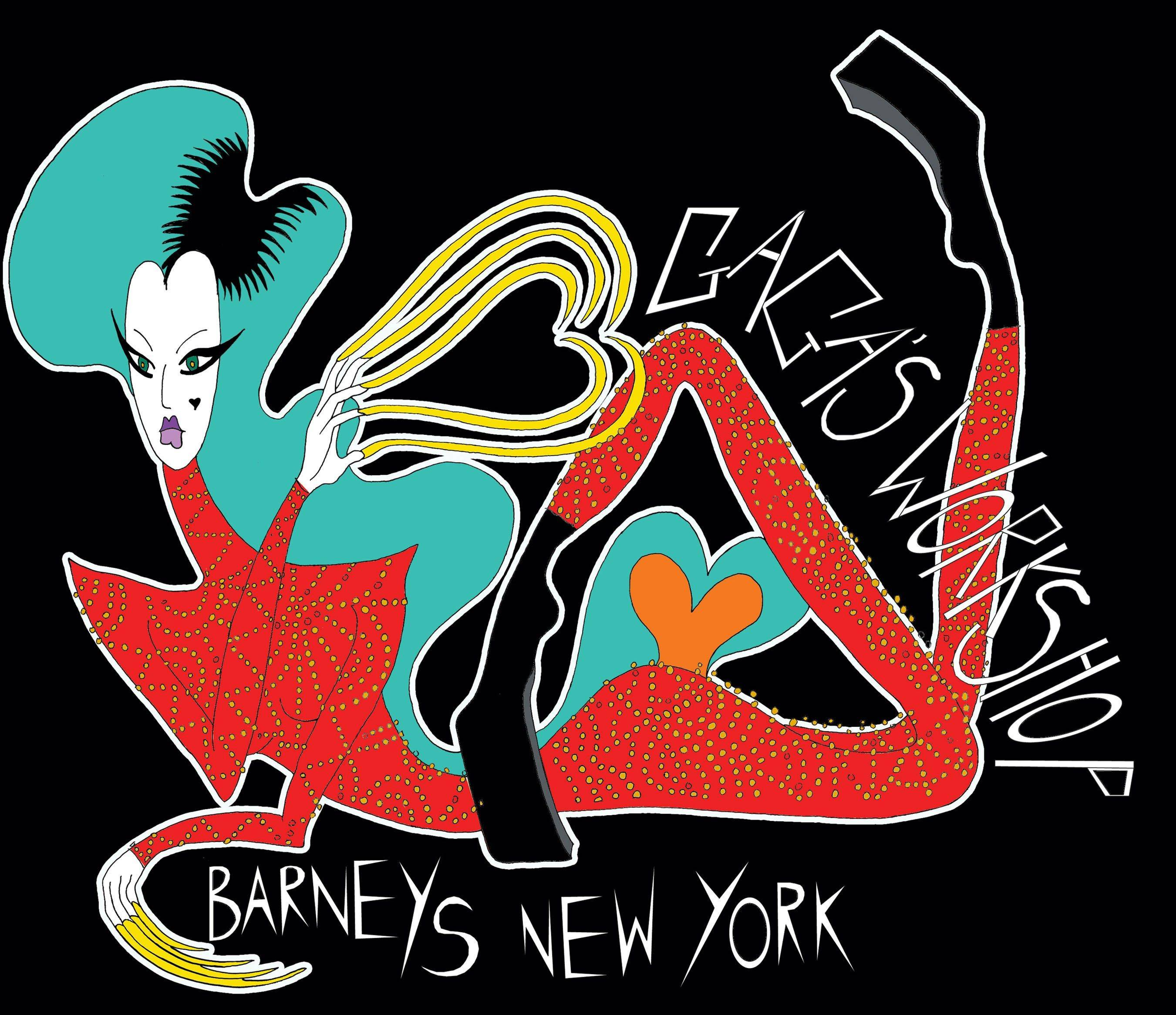 Artwork is shown from the Barneys New York and Lady Gaga Holiday Campaign. The singer and her team are going to reinterpret Santa's workshop and put it on display at Barneys. She'll get an entire floor and take over the coveted windows starting in mid-November at the retailer's flagship Madison Avenue store.