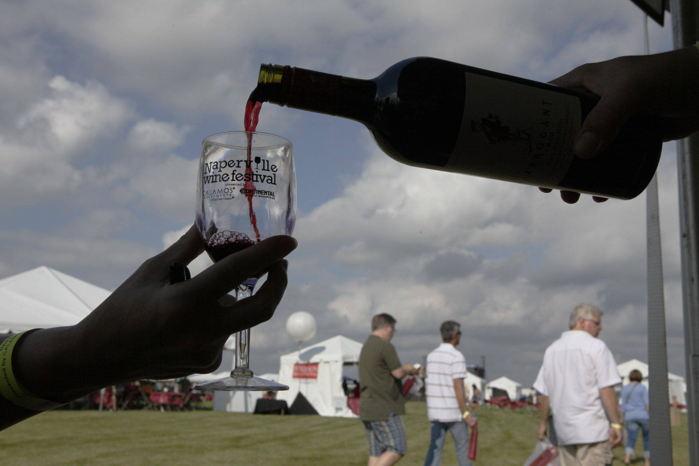 Wine was poured throughout the day Saturday at the Naperville Wine Festival at CityGate Centre.