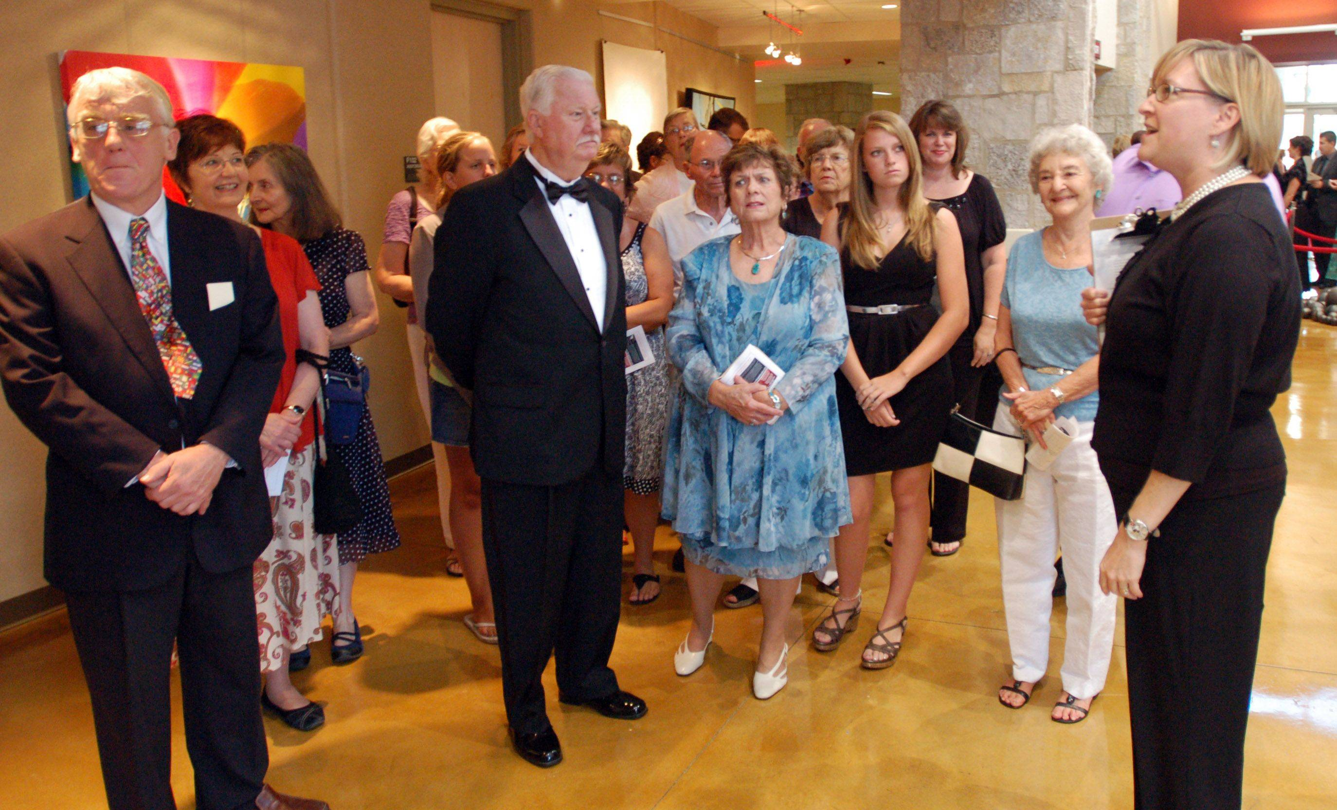 Several tours were given during the Batavia Fine Arts Centre's Red Carpet Gala opening on Saturday. The arts center is the school's first real auditorium, and will also serve as a community center for the city of Batavia.