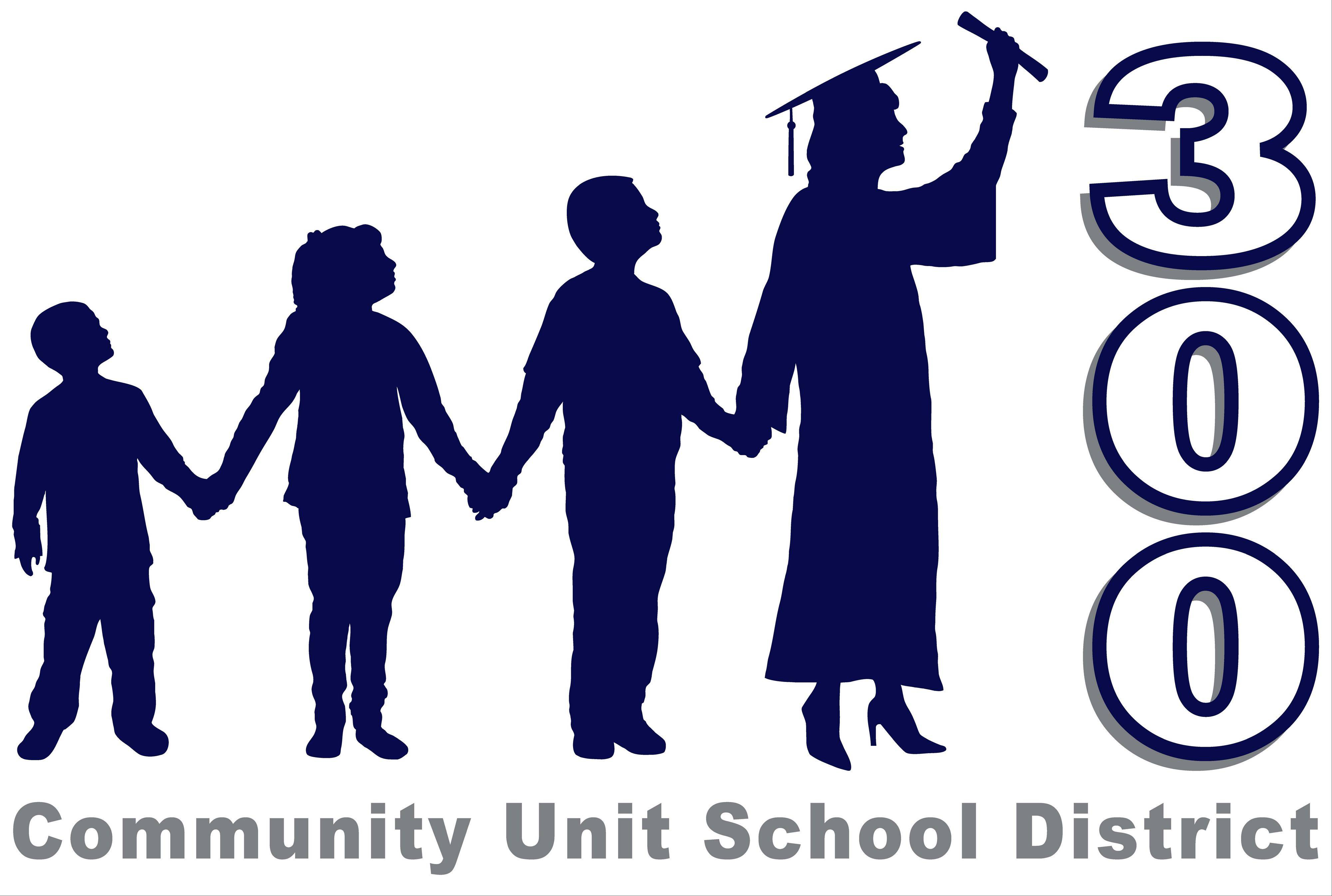 The new logo for Community Unit District 300, as of 2011-12 school year.