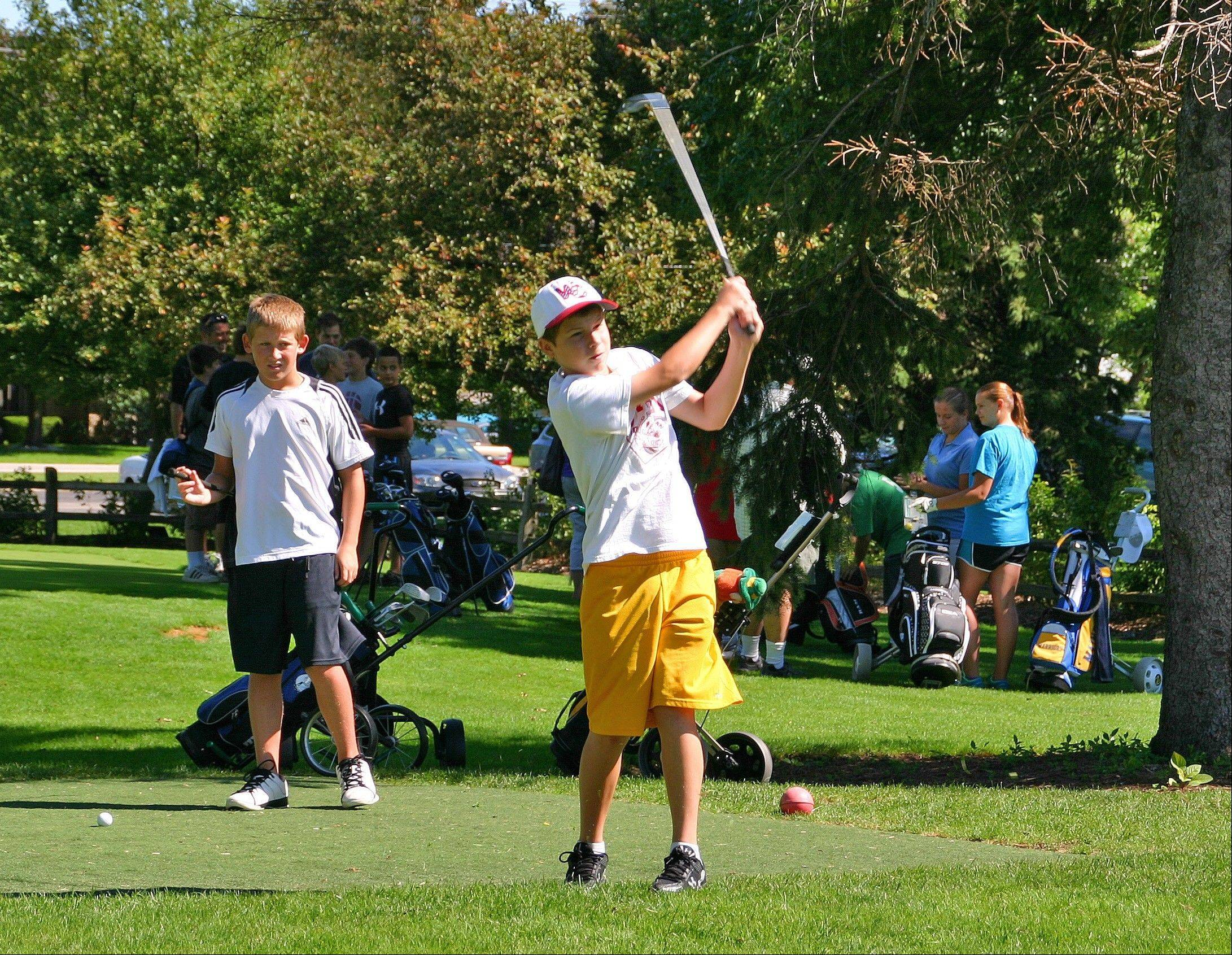 Thirty-one golfers teed off at the eighth annual Optimist Club Youth Golf Outing on Aug. 10, at Lake Park.