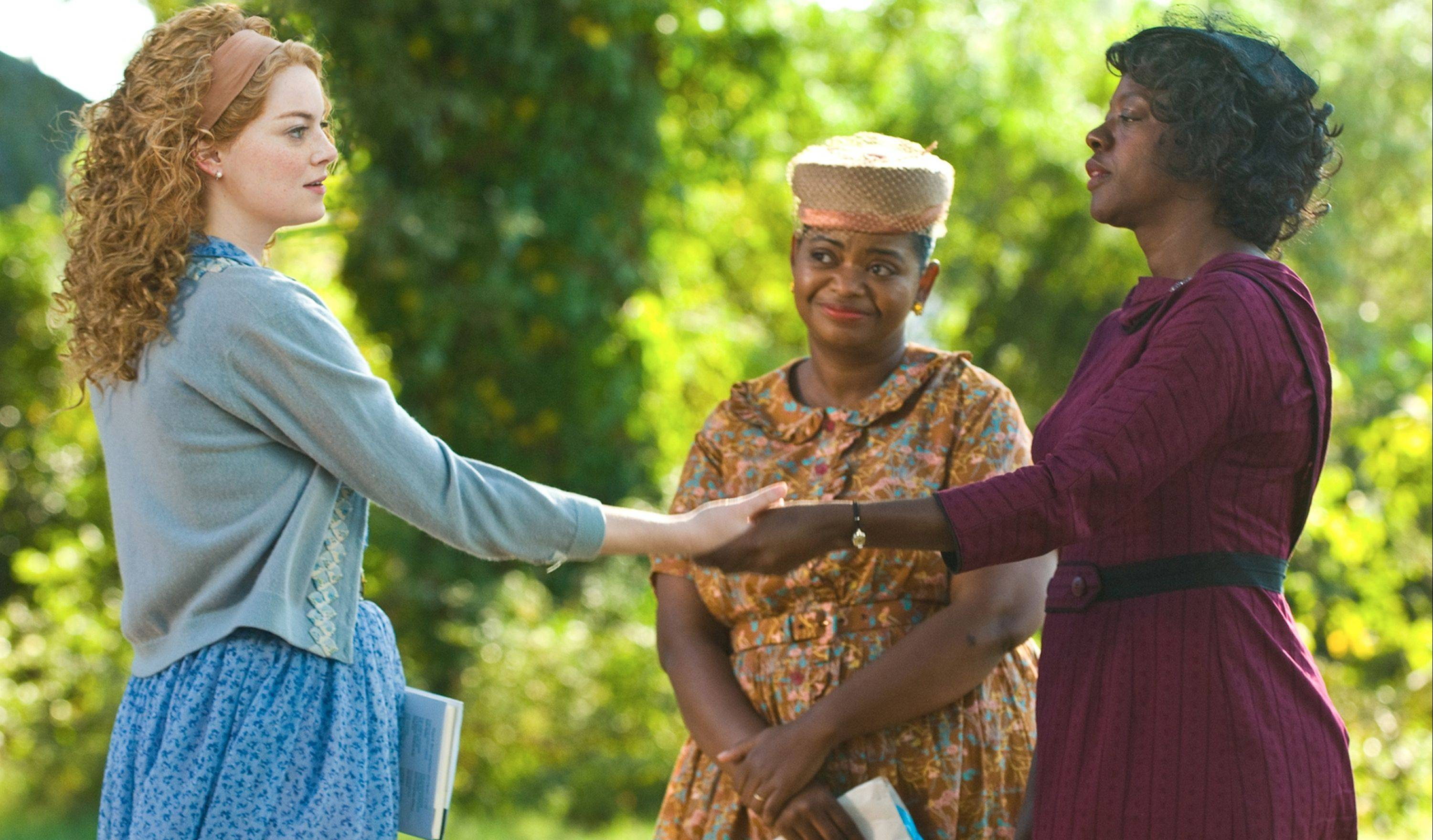 "Emma Stone, Octavia Spencer and Viola Davis star in movie ""The Help."" ""The Help"" continues to clean up at the box office, taking over the No. 1 spot with $20.5 million in its second weekend."