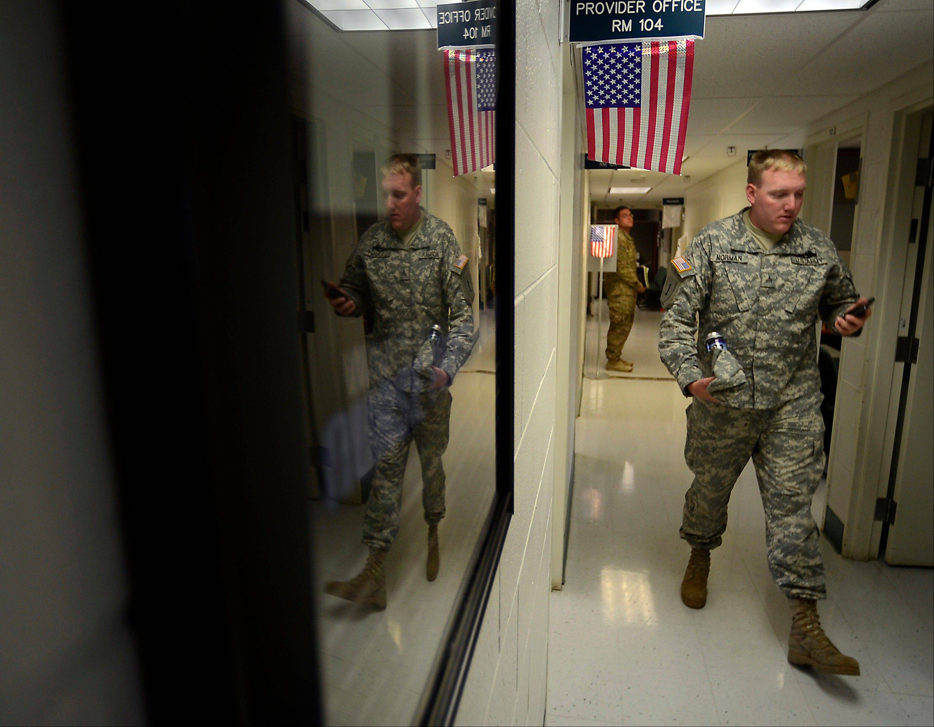 Sgt. William Norman, one of hundreds of soldiers from Fort Carson, Colo., returning from a deployment to Afghanistan, begins the process of determining traumatic brain injury.
