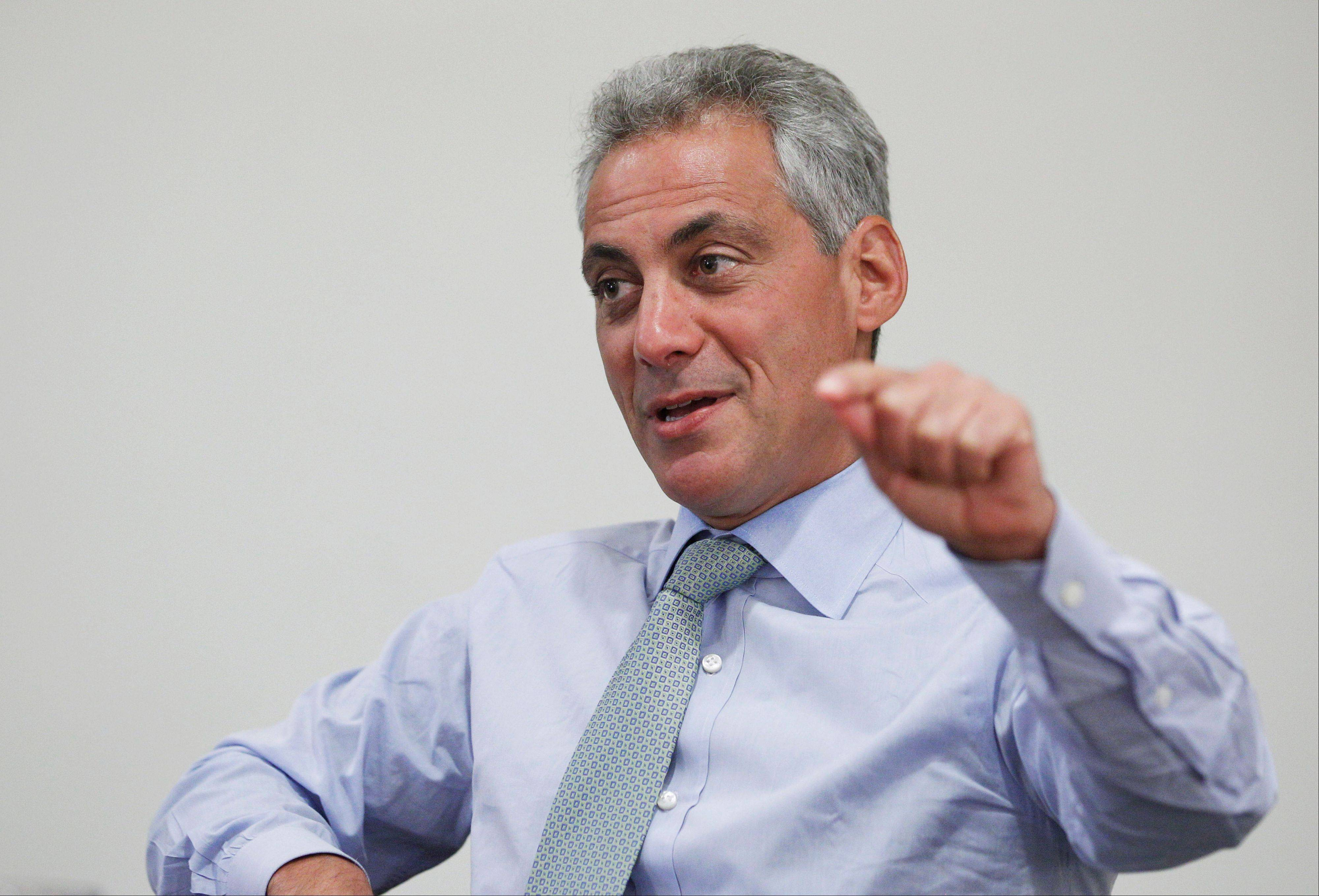 Chicago Mayor Rahm Emanuel lists the redeployment of 500 police officers to the street from other areas of the department as one his accomplishments during his first 100 days in office.