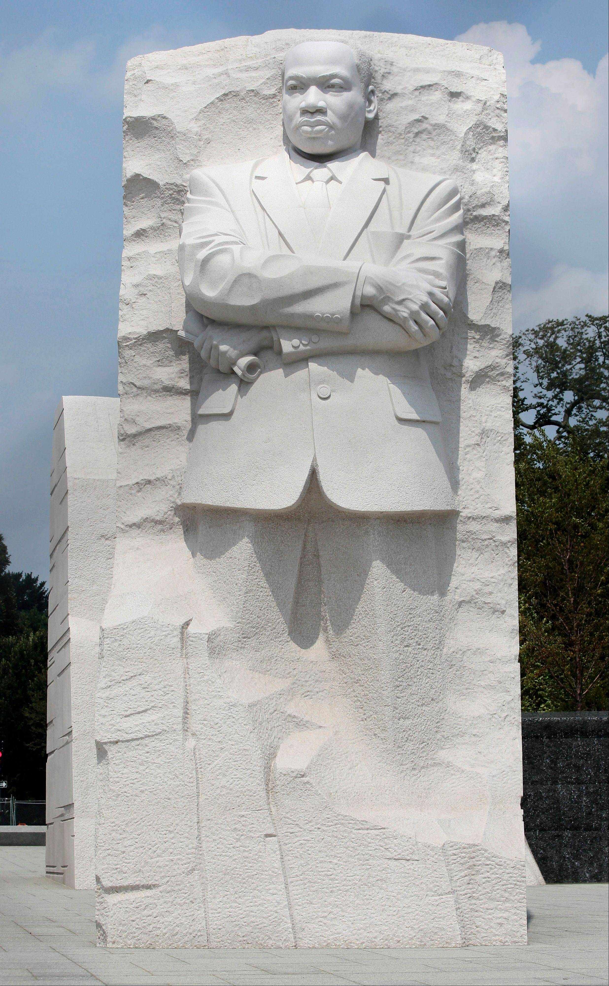 The Rev. Martin Luther King Jr. Memorial is seen on the National Mall in Washington.