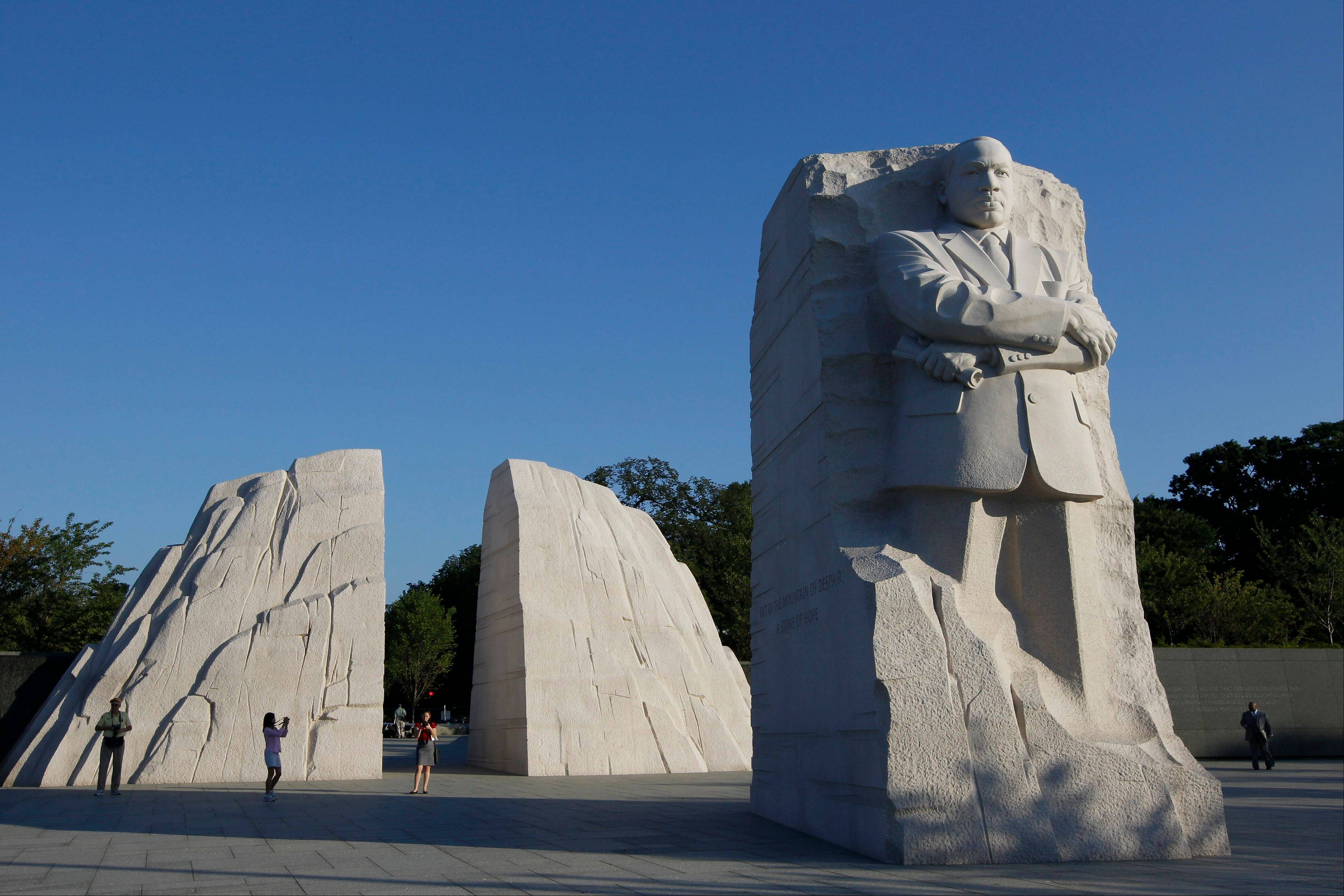 The Martin Luther King, Jr. Memorial is seen Monday, Aug. 22, 2011 in Washington, ahead of its dedication next weekend.