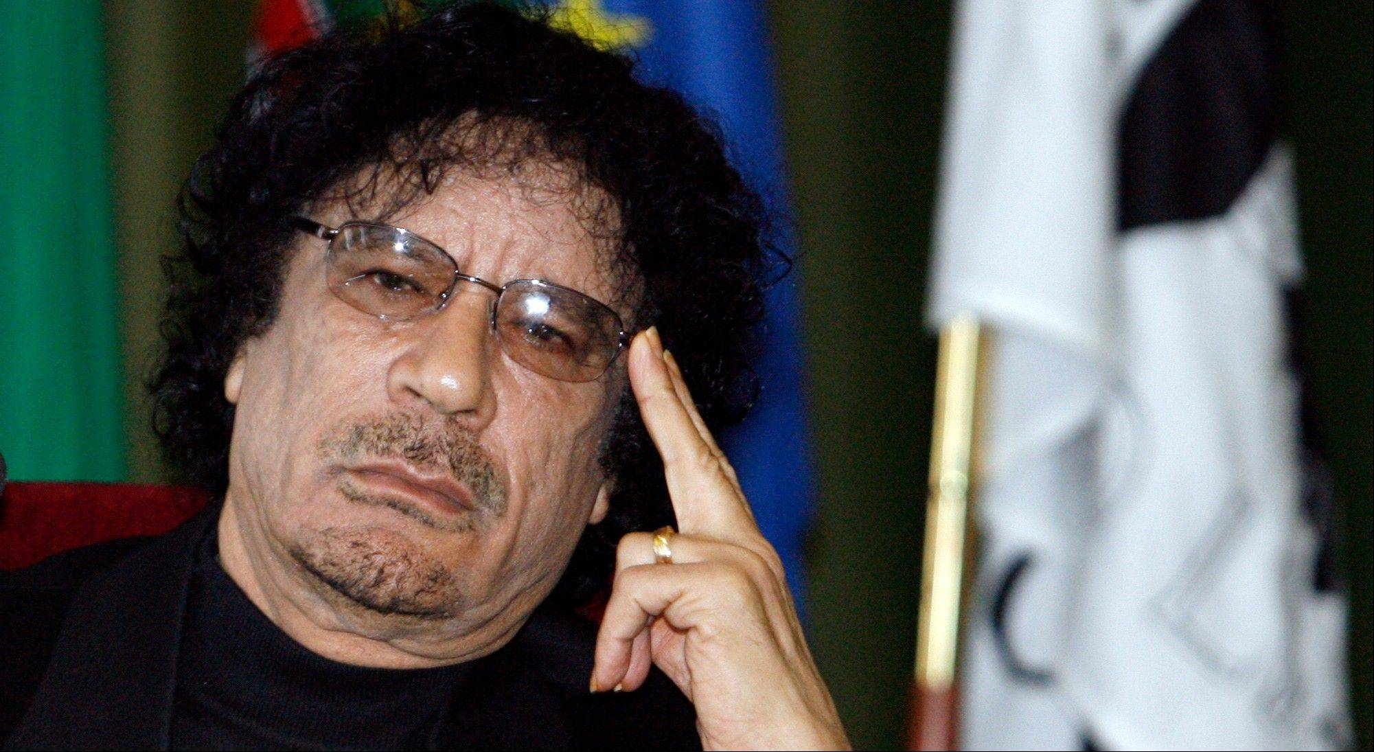 The whereabouts of Libyan leader Moammar Gadhafi are unknown.