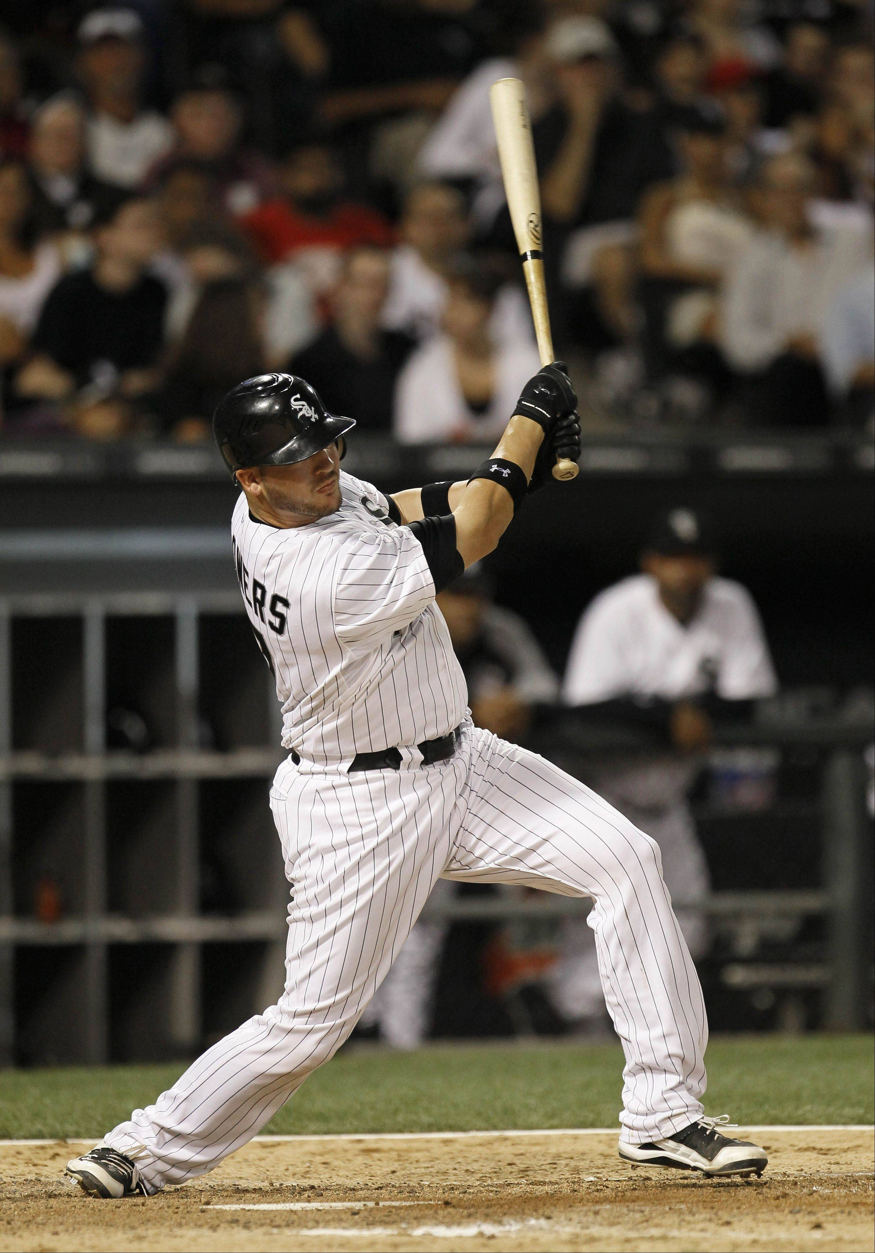 In the seven games he has started since catcher A.J. Pierzynski went on the disabled list, Tyler Flowers is batting .400 (10-25) for the White Sox.