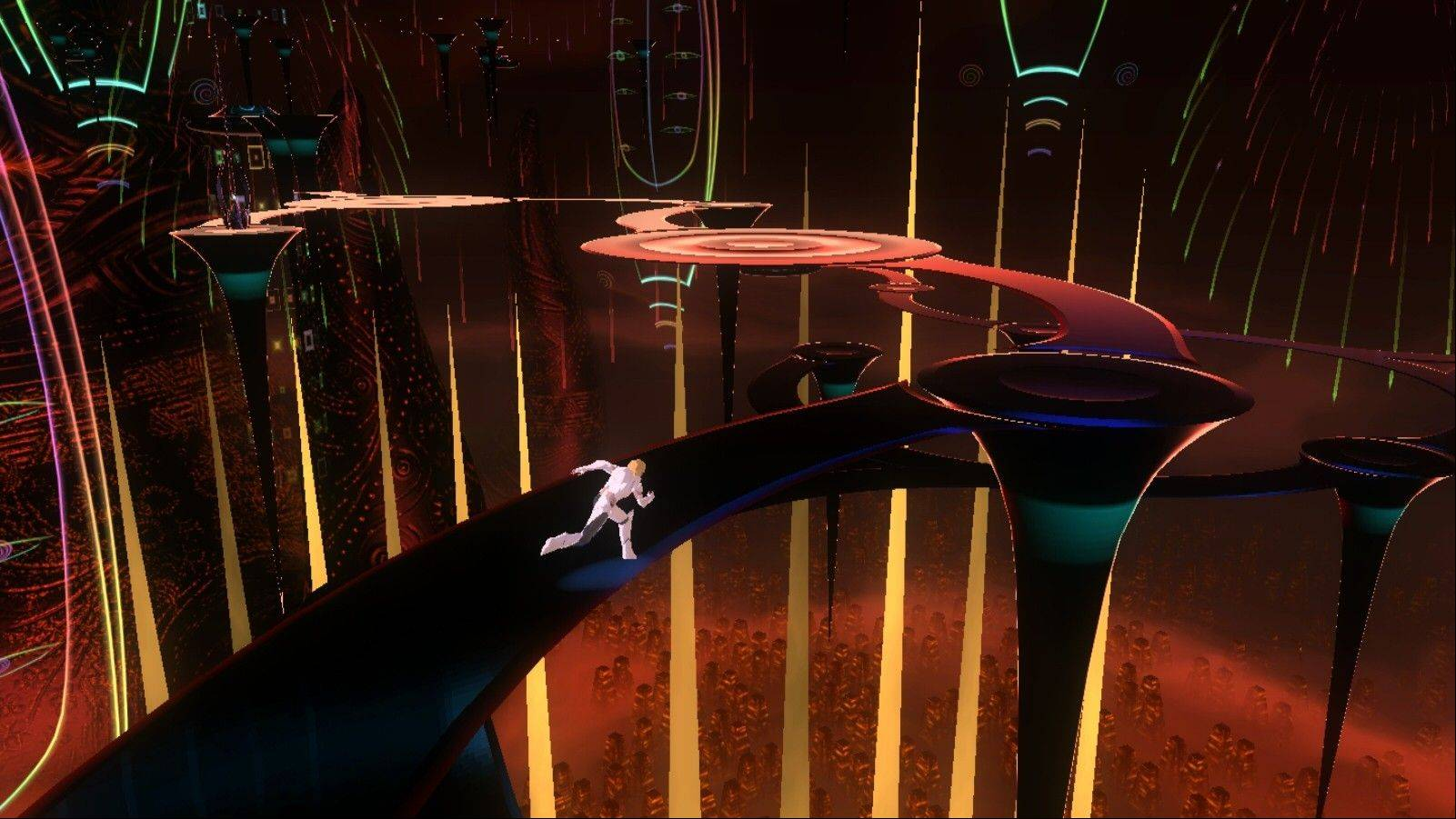 "Enoch explores a tower built by fallen angels in ""El Shaddai: Ascension of the Metatron."""