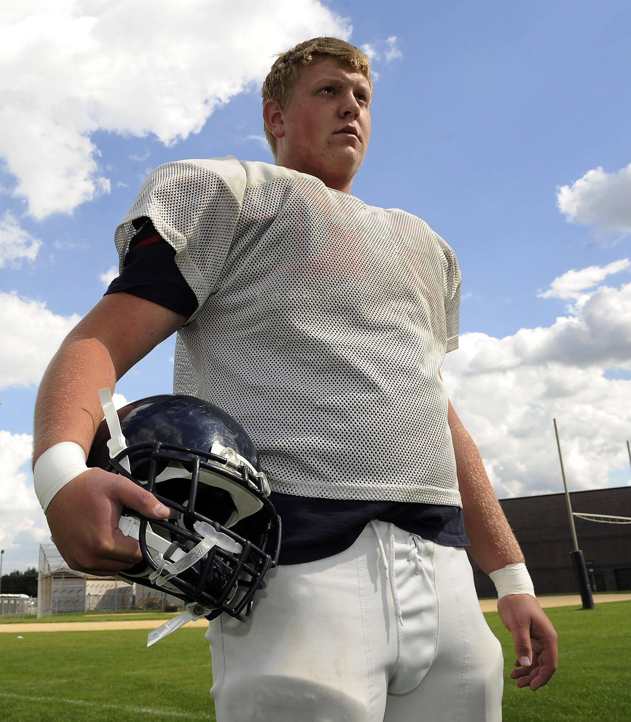 Conant offensive lineman Paul Perschon chose Toledo over five other scholarship offers.