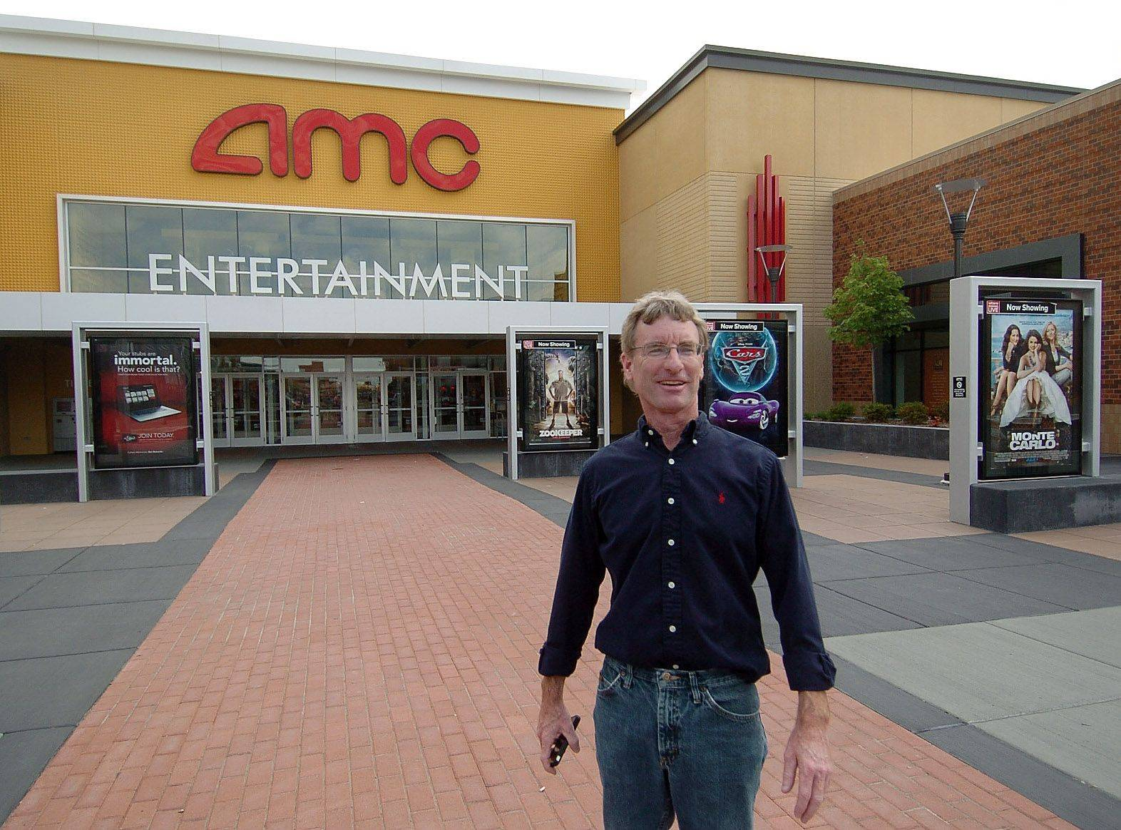 James Conroy, director of Randhurst Village development, in front of the AMC theaters. Even the concessions are new at the theaters, allowing customers to make selections and check out, including wine and beer from a theater bar, and a Coca-Cola Freestyle machine, which offers 106 possible flavors of Coke.